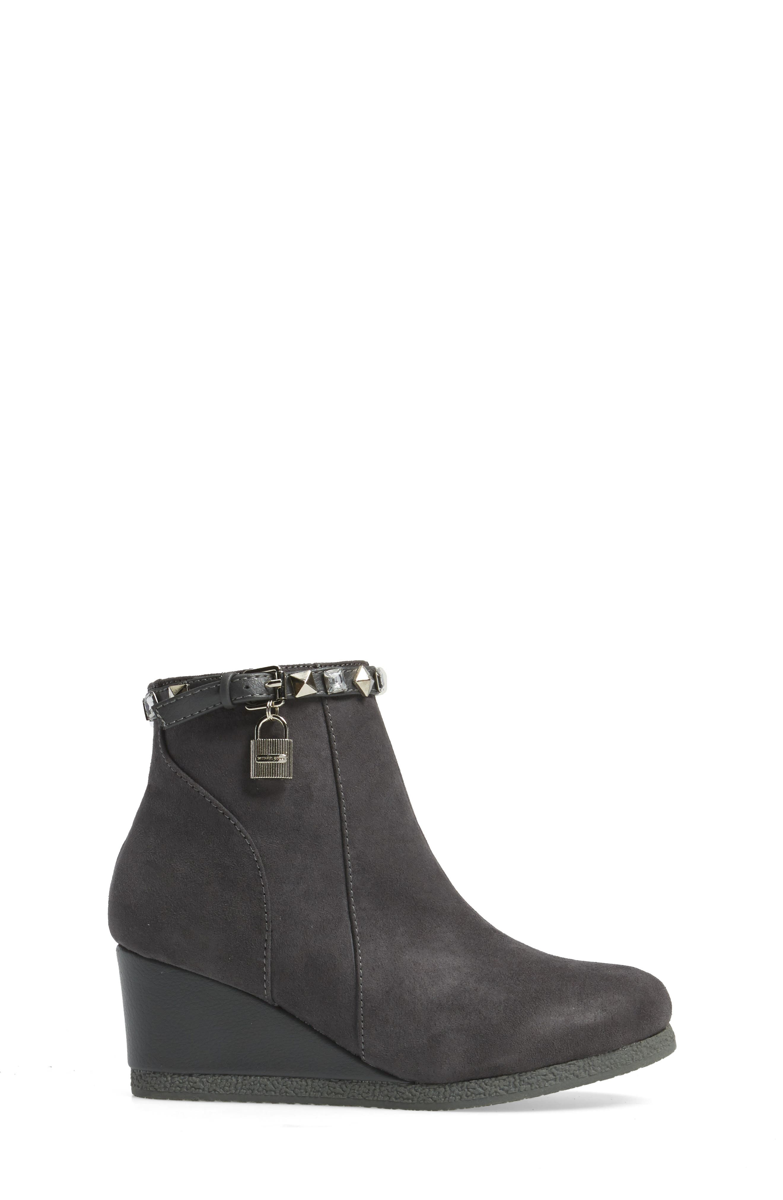 Cara Key Studded Wedge Bootie,                             Alternate thumbnail 6, color,