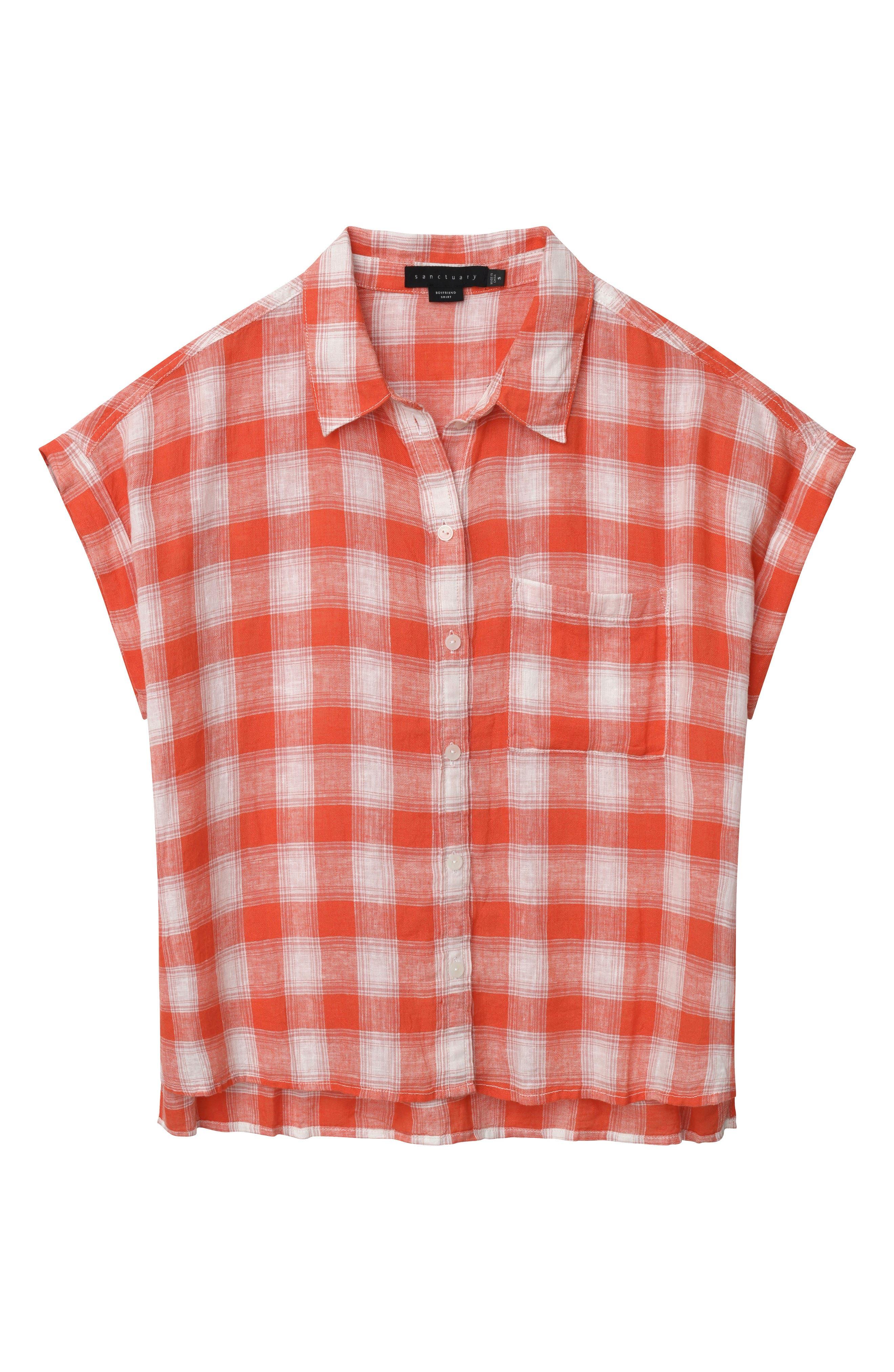 Mod Short Sleeve Boyfriend Shirt,                             Alternate thumbnail 27, color,