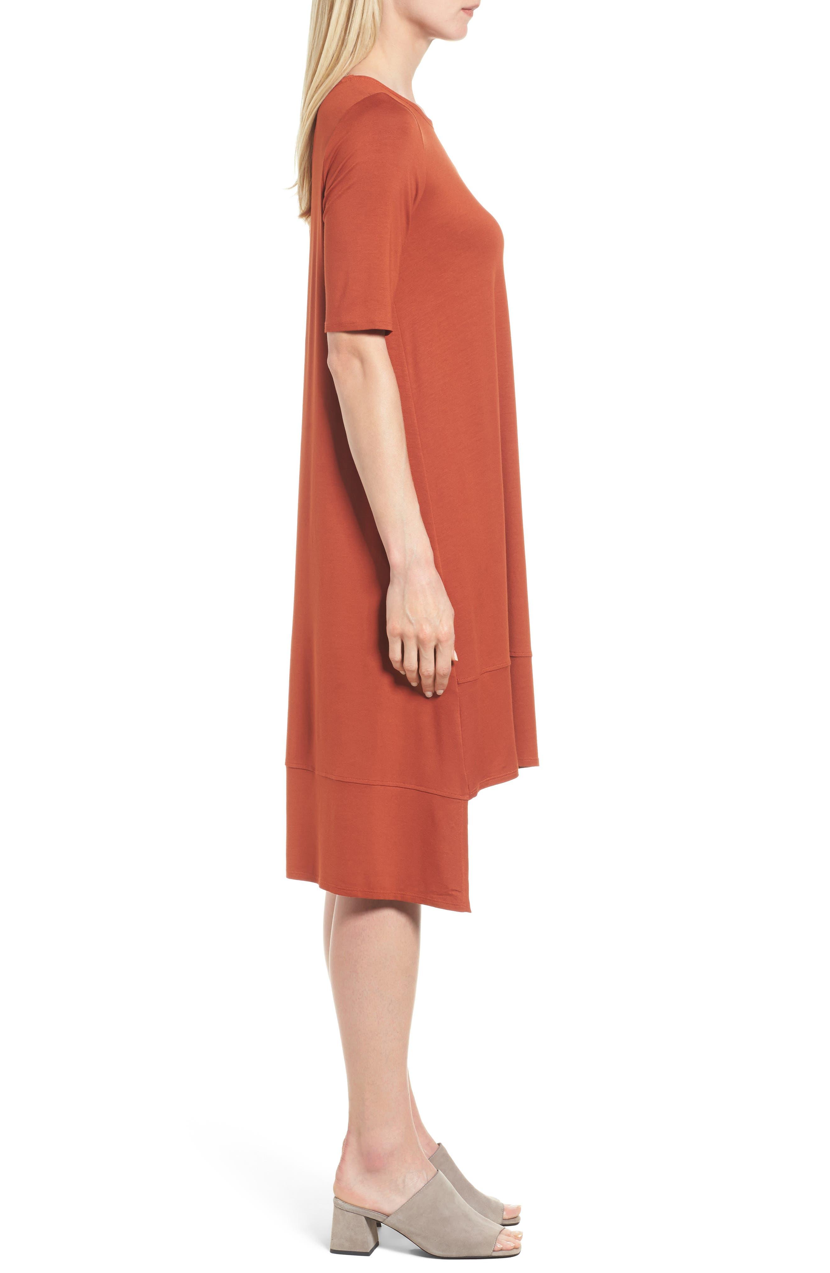 Jersey Asymmetrical A-Line Dress,                             Alternate thumbnail 15, color,