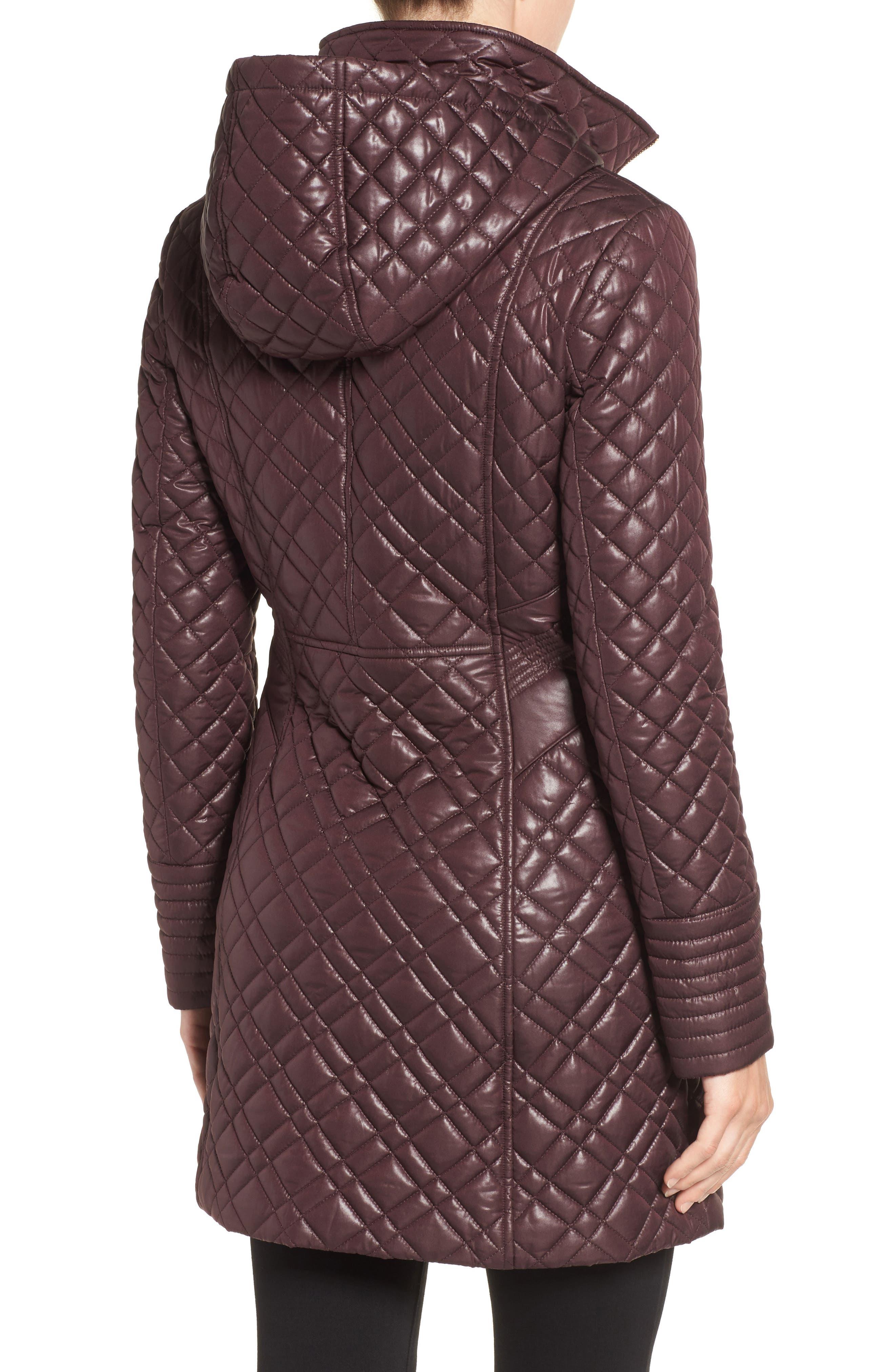 Tassel Detail Hooded Mix Quilt Coat,                             Alternate thumbnail 7, color,