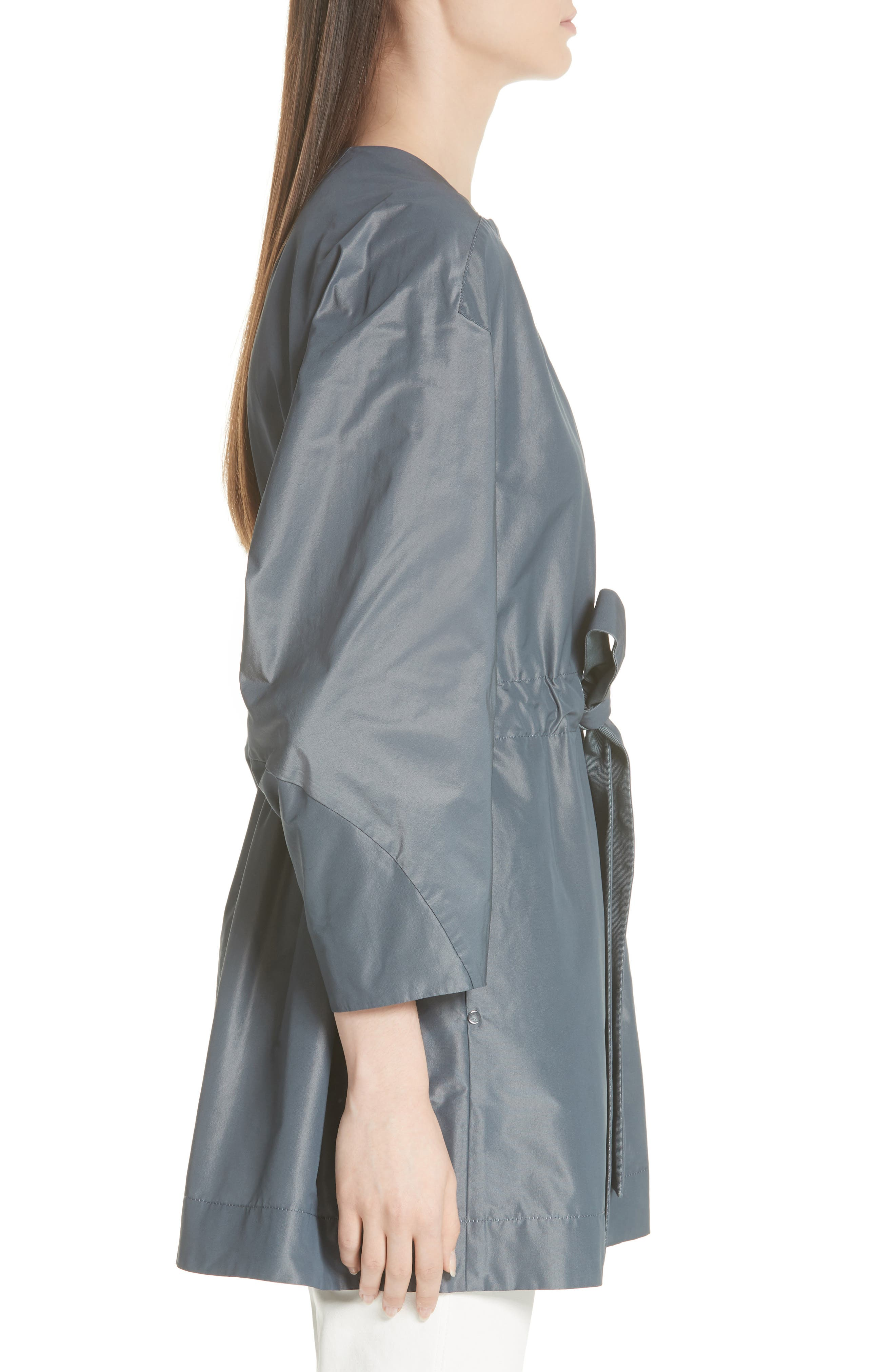 Stephania Jacket,                             Alternate thumbnail 3, color,                             PORT BLUE IRIDESCENT