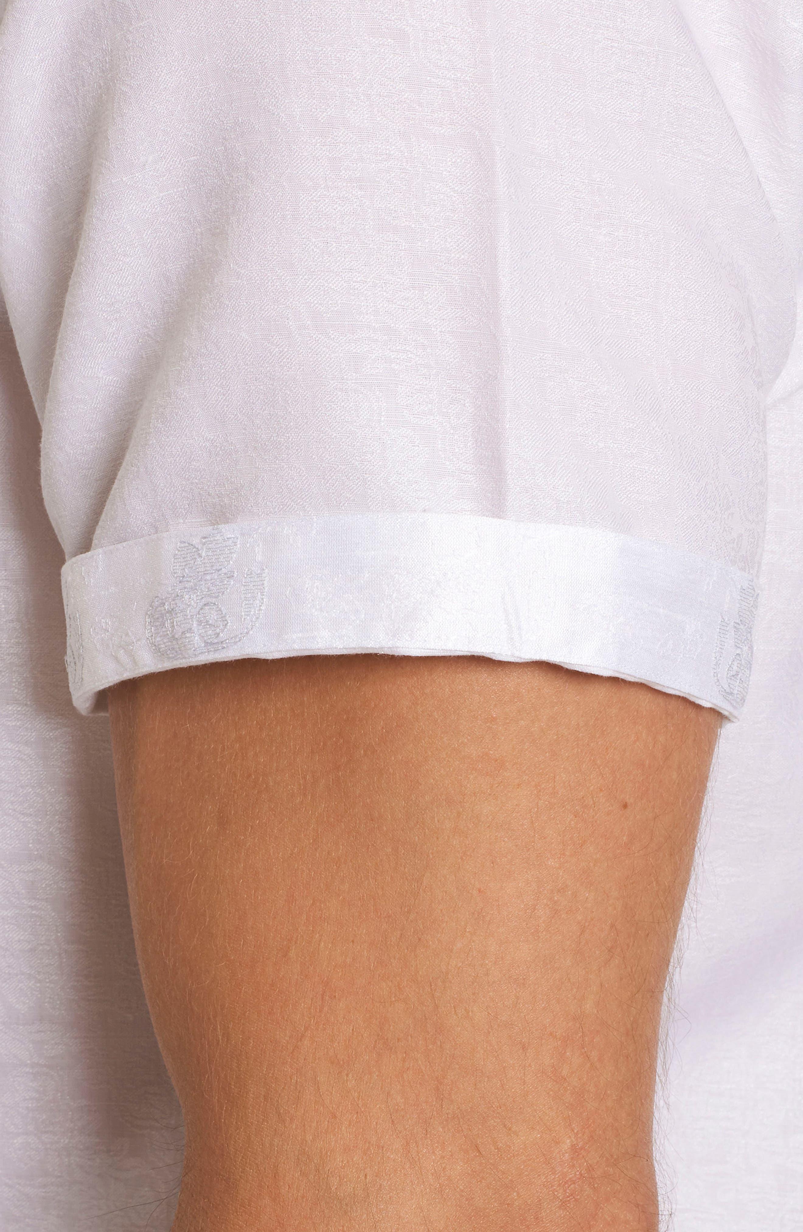 Cyprus Classic Fit Linen & Cotton Sport Shirt,                             Alternate thumbnail 5, color,
