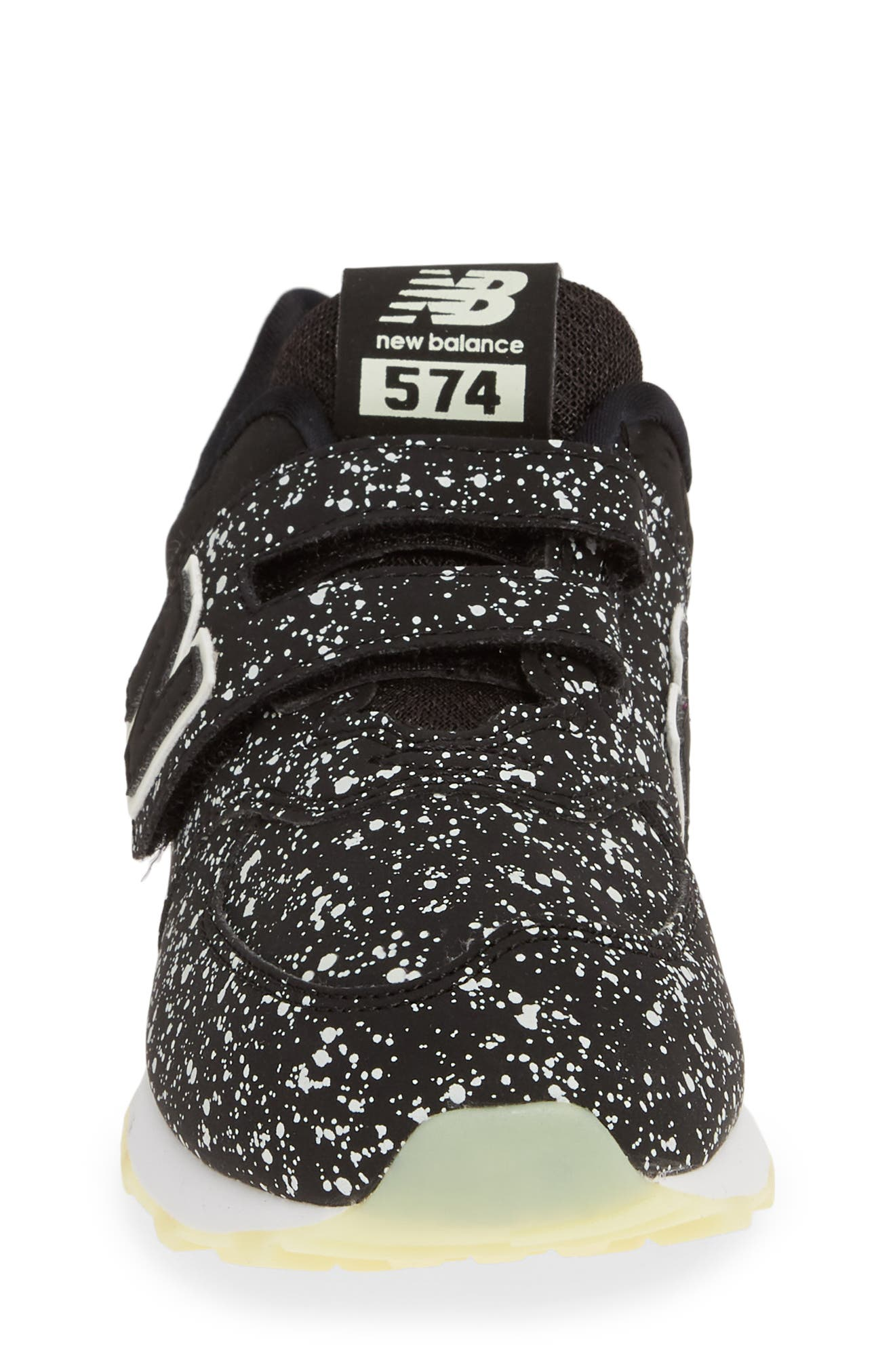 574 Galactic Glow Sneaker,                             Alternate thumbnail 4, color,                             BLACK