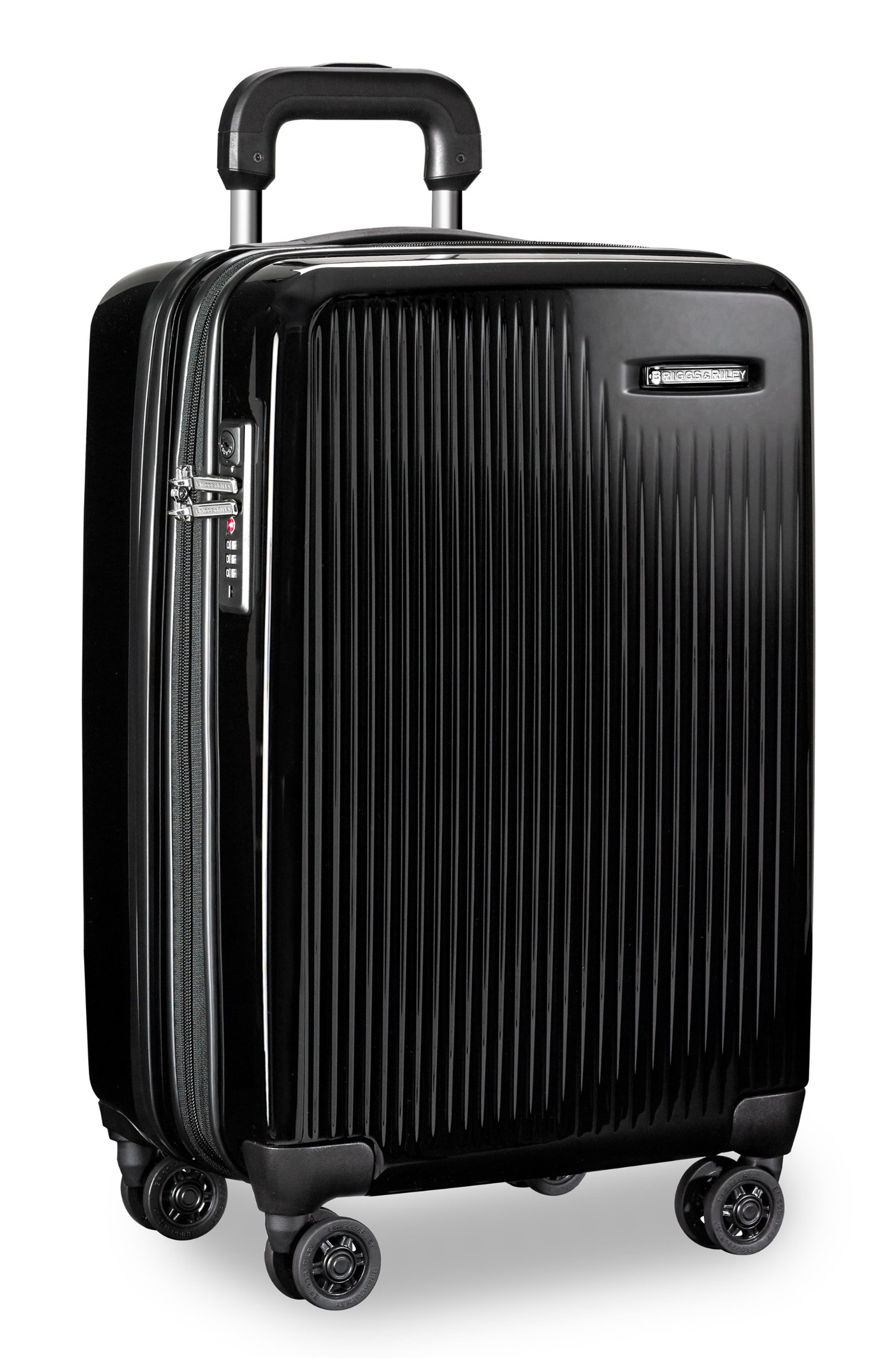 22-Inch Domestic Expandable Spinner Wheeled Carry-On,                             Alternate thumbnail 5, color,                             ONYX GLOSS