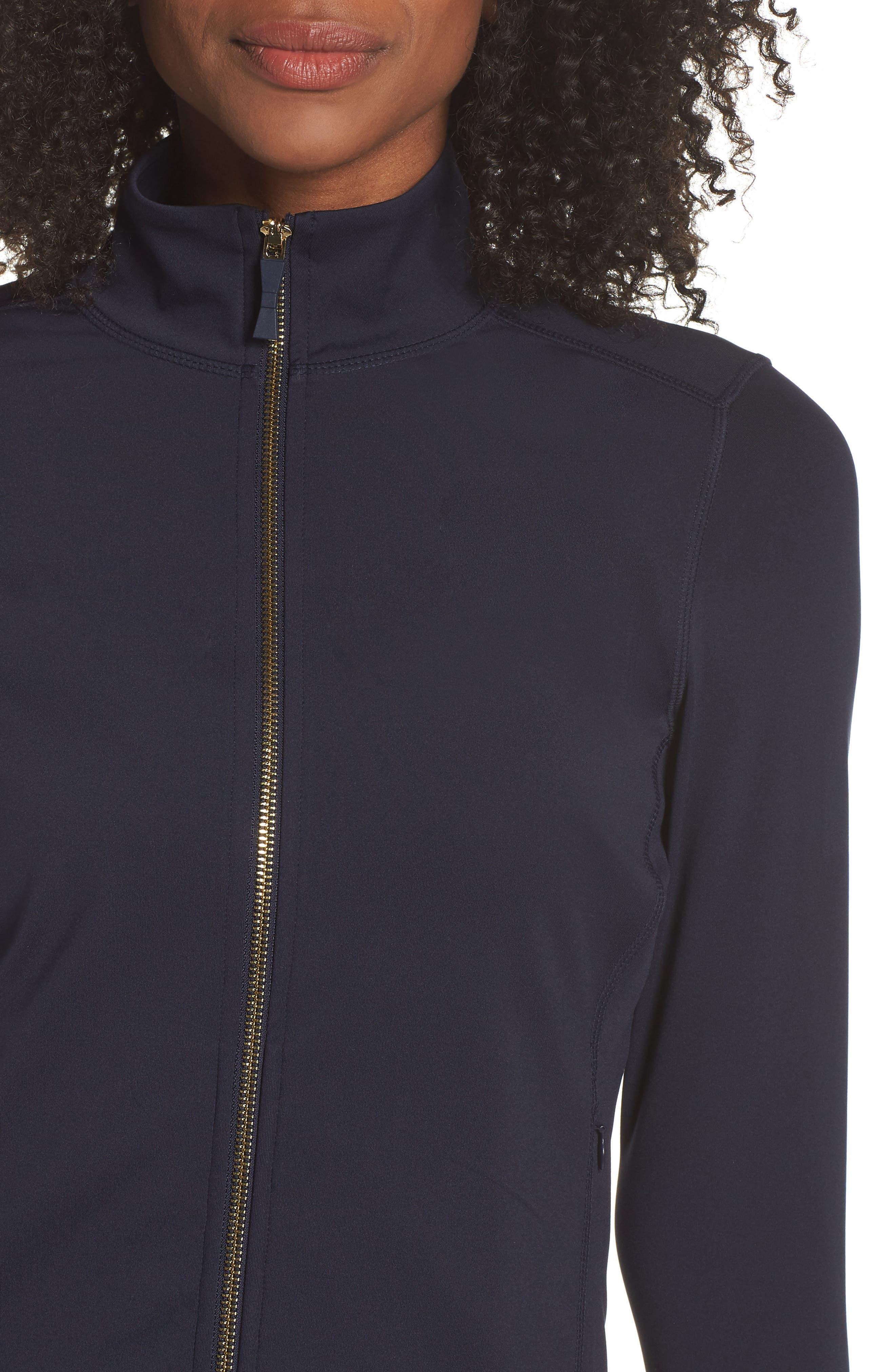 eyelet jacket,                             Alternate thumbnail 4, color,                             RICH NAVY