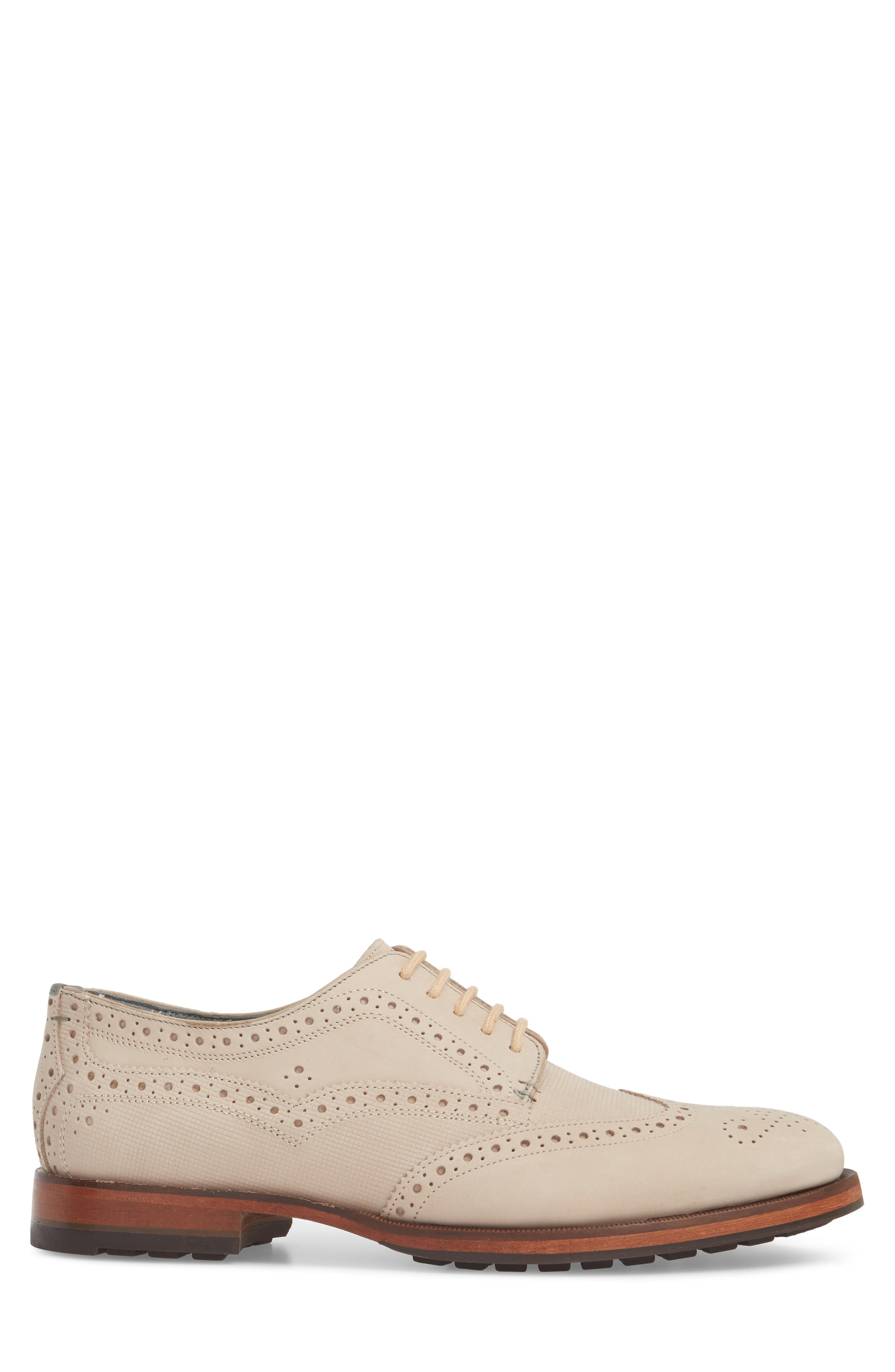 Senapen Wingtip Derby,                             Alternate thumbnail 3, color,                             LIGHT TAN SUEDE