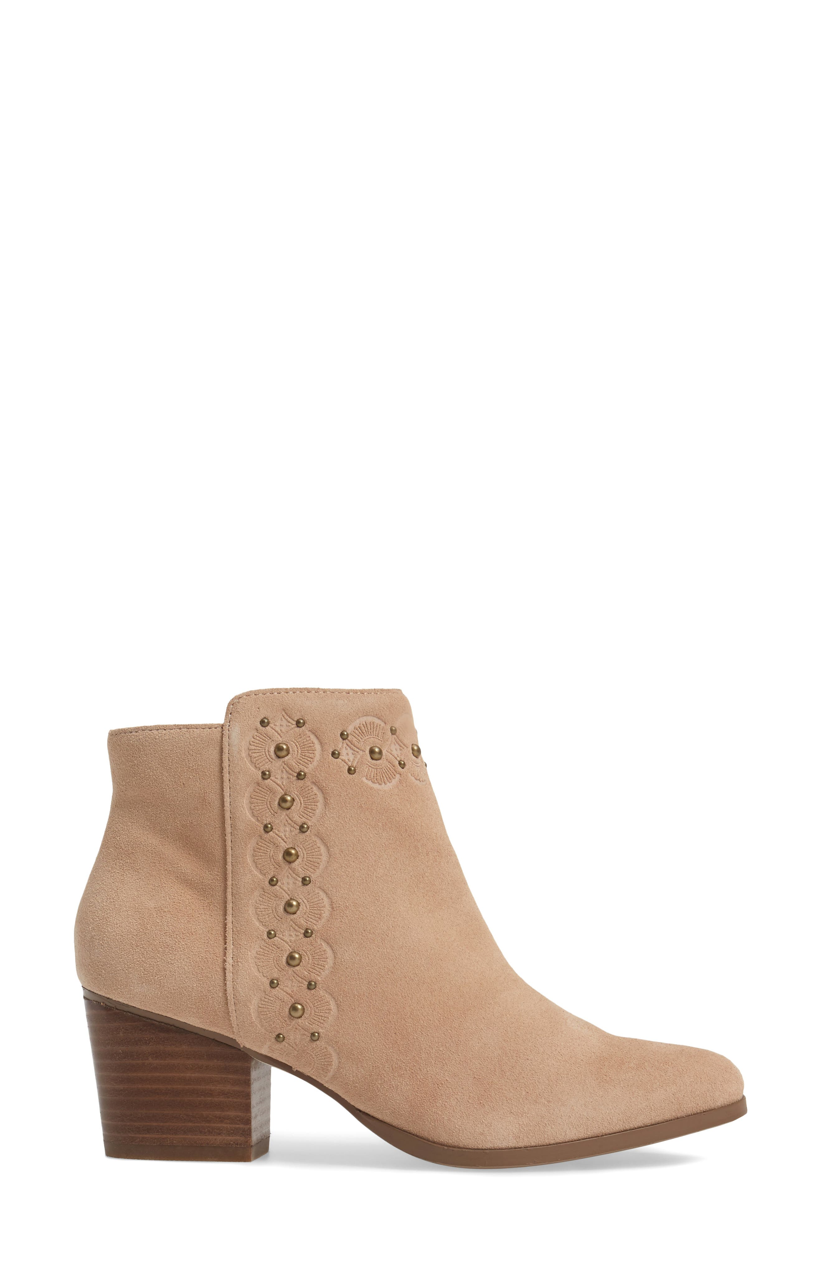 Gala Studded Embossed Bootie,                             Alternate thumbnail 8, color,