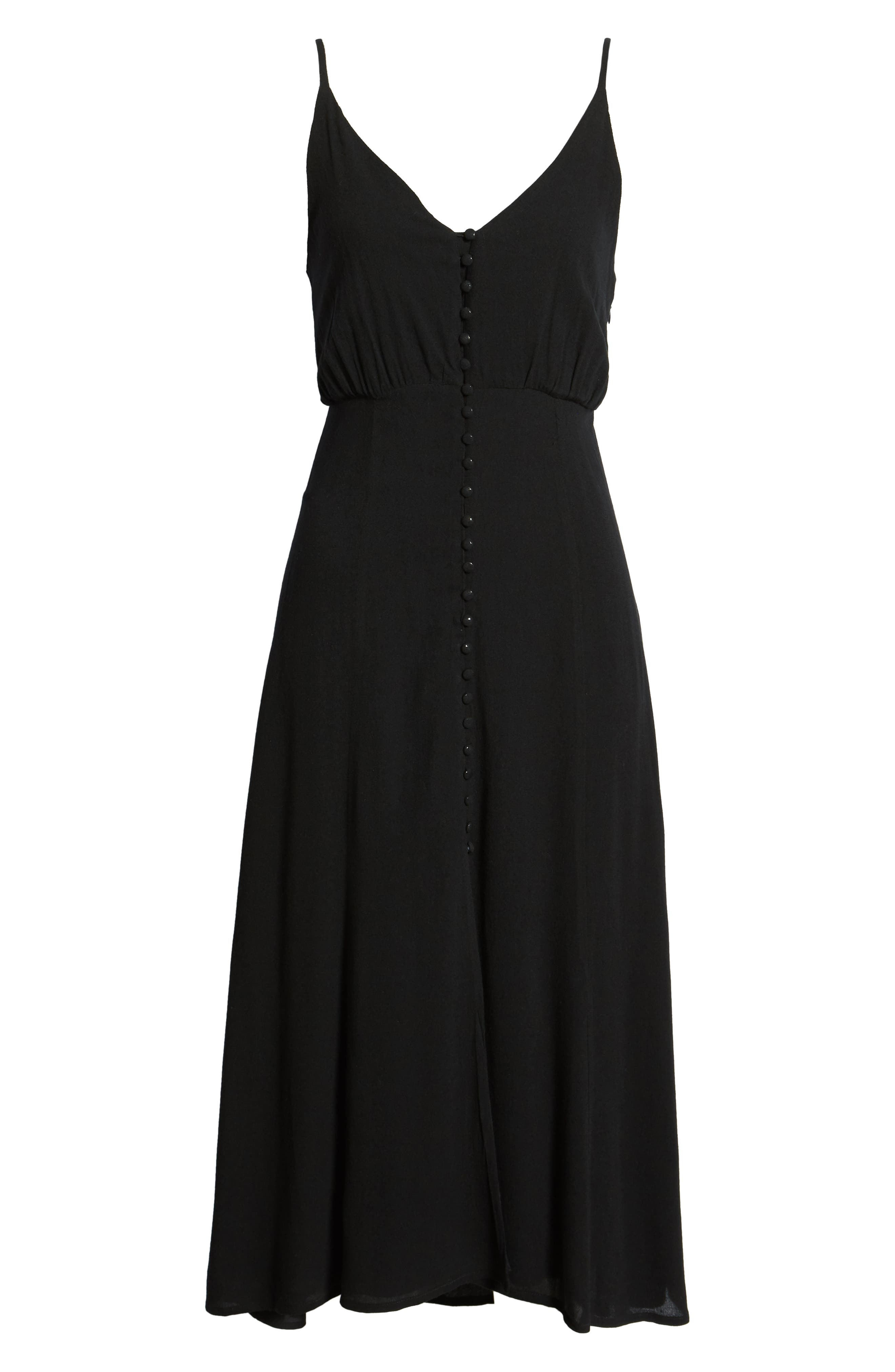 LIRA CLOTHING,                             Cedar Break Midi Dress,                             Alternate thumbnail 7, color,                             BLACK