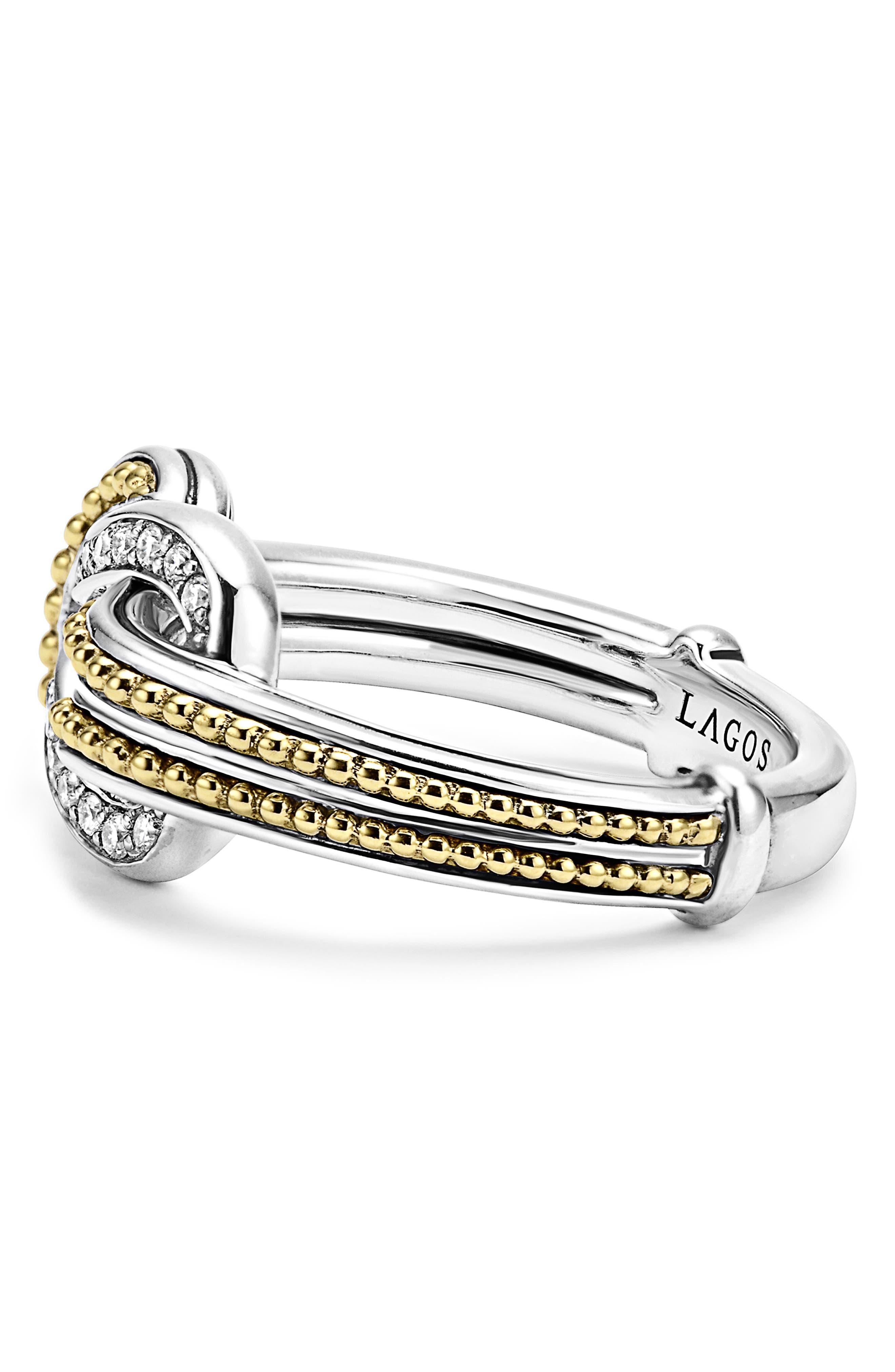 'Newport' Diamond Knot Ring,                             Alternate thumbnail 3, color,                             040