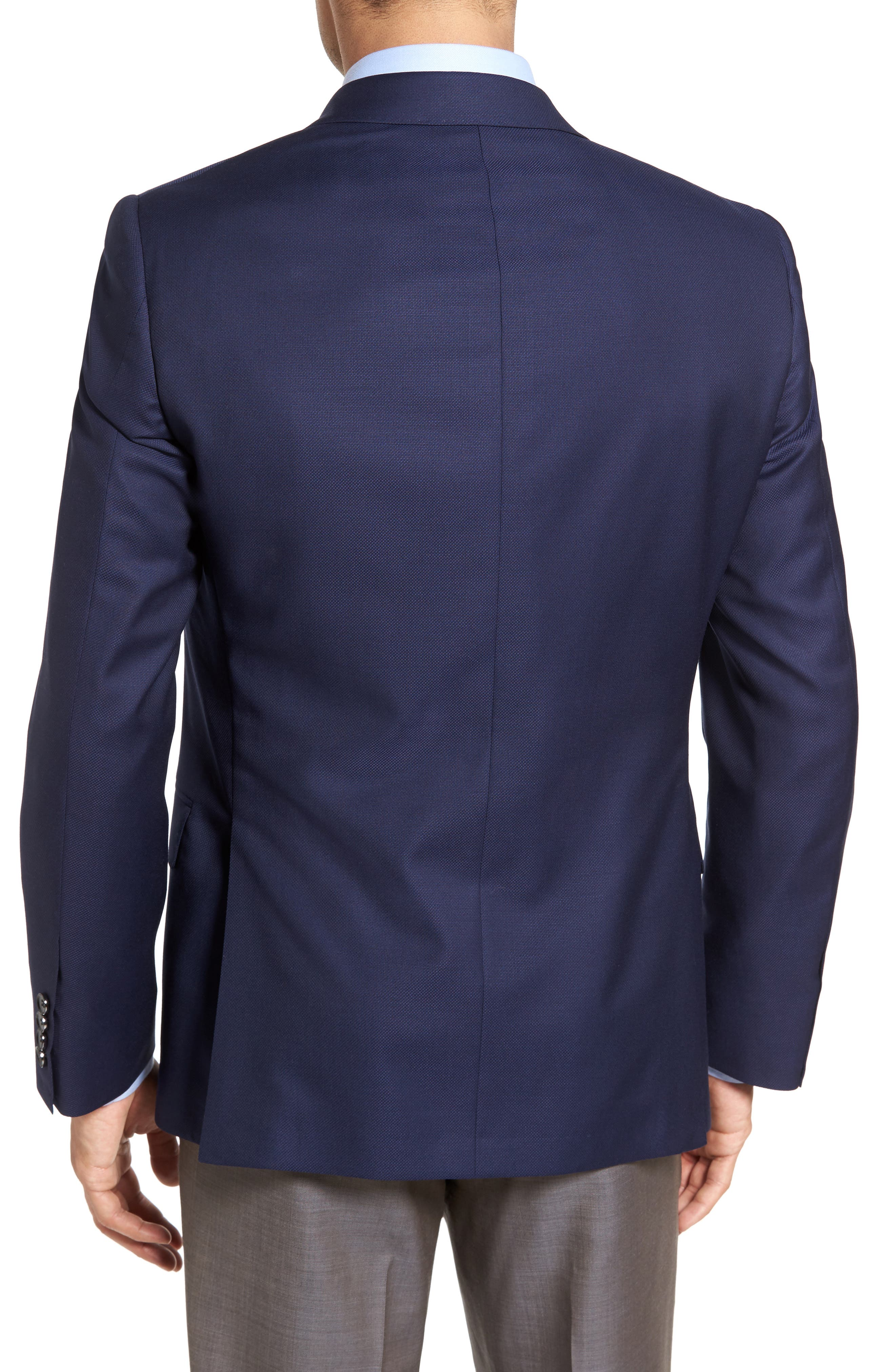 Classic Fit Wool Blazer,                             Alternate thumbnail 4, color,
