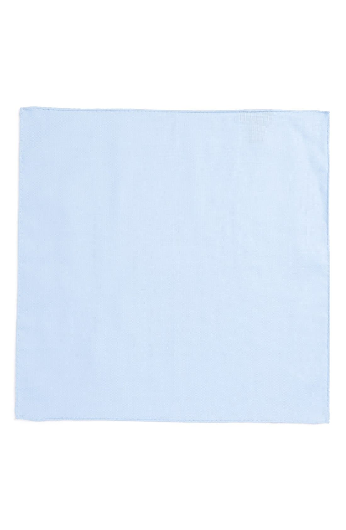 Solid Cotton Pocket Square,                             Alternate thumbnail 2, color,                             BLUE