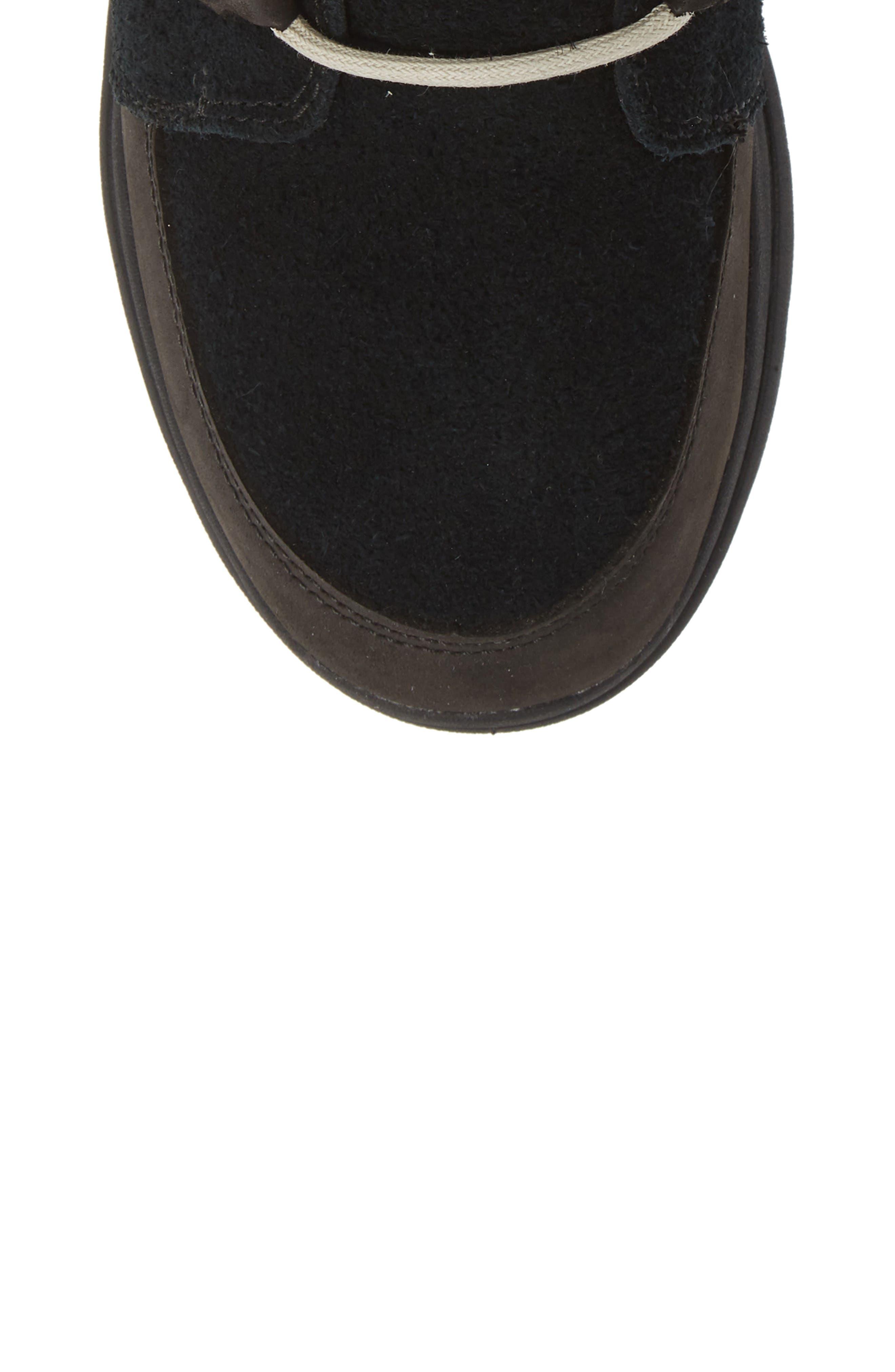 Explorer Joan Waterproof Boot with Faux Fur Collar,                             Alternate thumbnail 5, color,                             BLACK/ DARK STONE