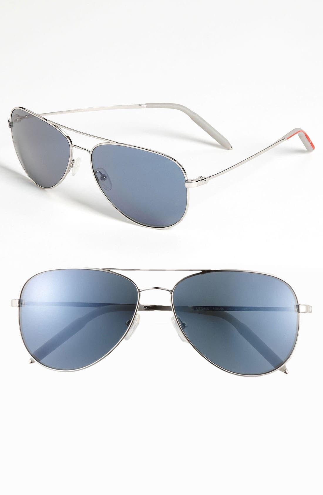'Raynes' Aviator Sunglasses, Main, color, 040