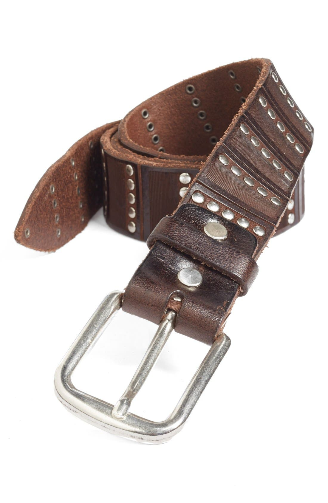 'Santino' Leather Belt,                             Main thumbnail 1, color,