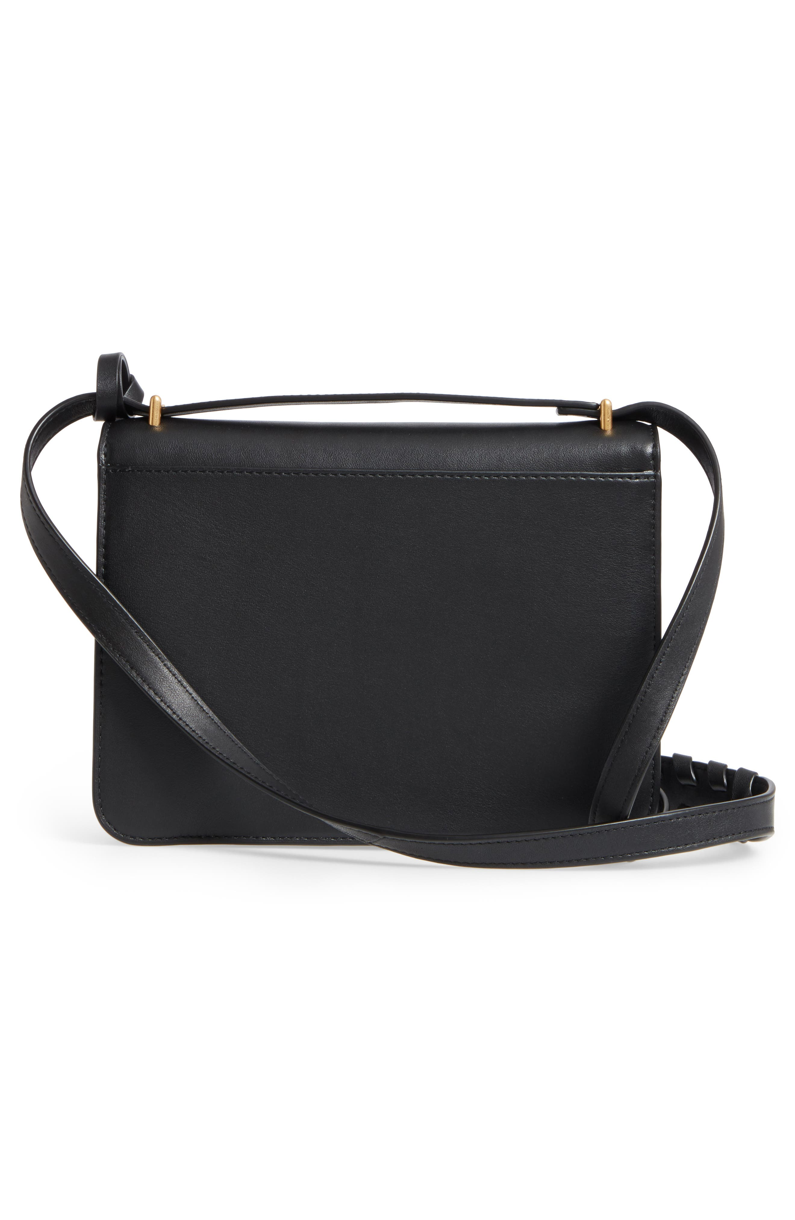 Brooke Leather Crossbody Bag,                             Alternate thumbnail 3, color,                             001