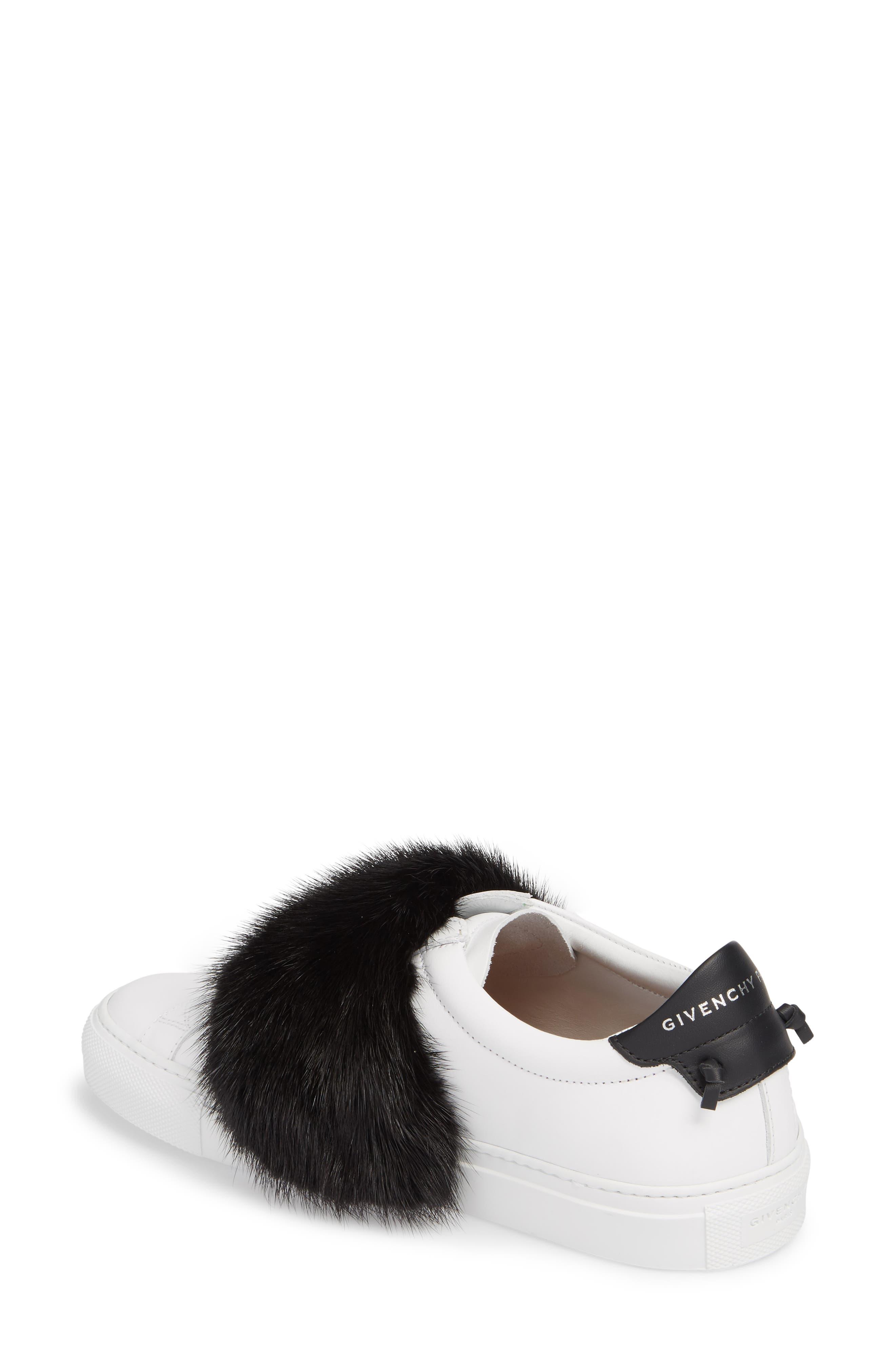 Urban Street Slip-On Sneaker with Genuine Mink Fur Trim,                             Alternate thumbnail 5, color,