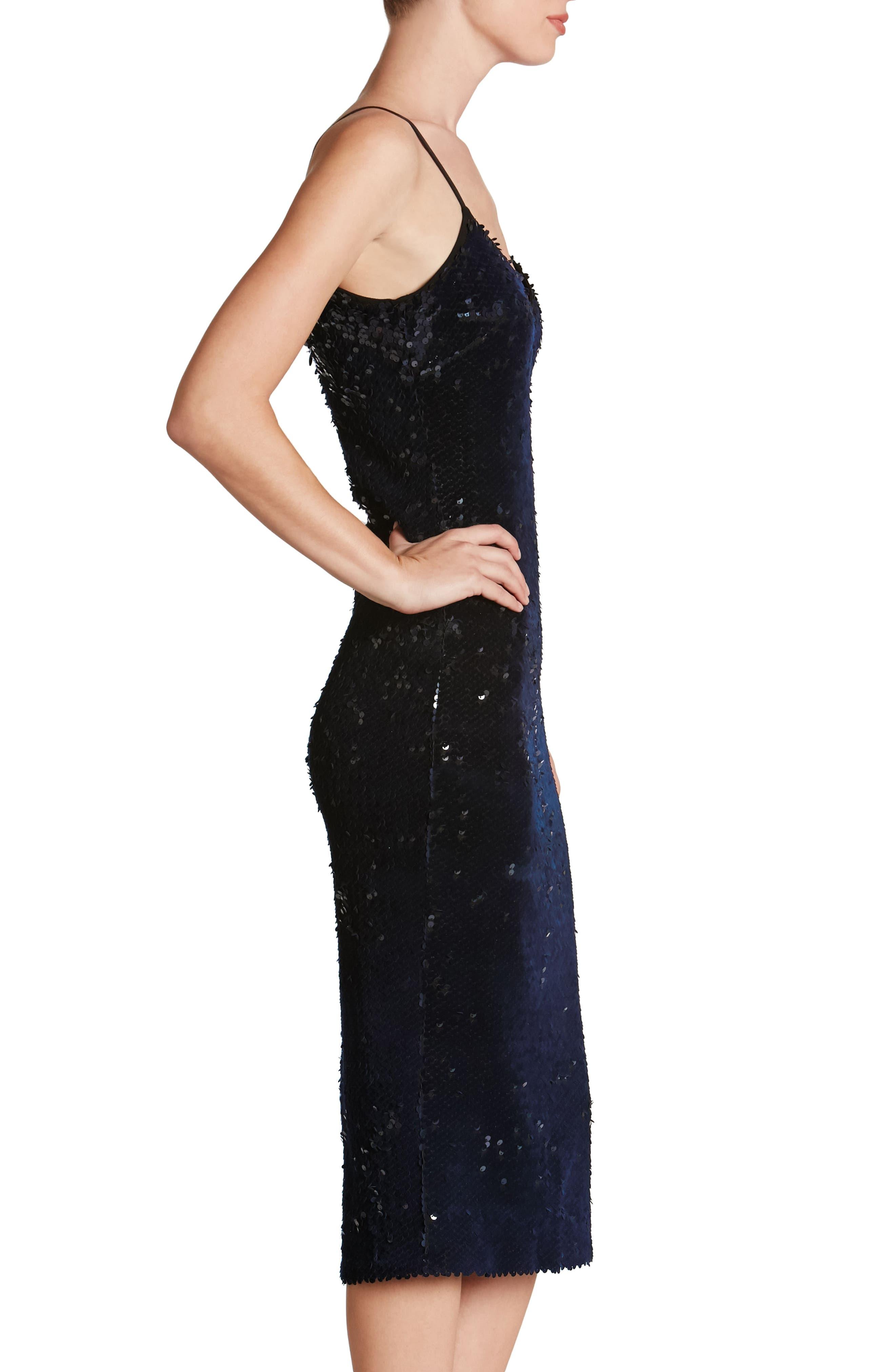 Nina Sequin Velvet Body-Con Dress,                             Alternate thumbnail 8, color,