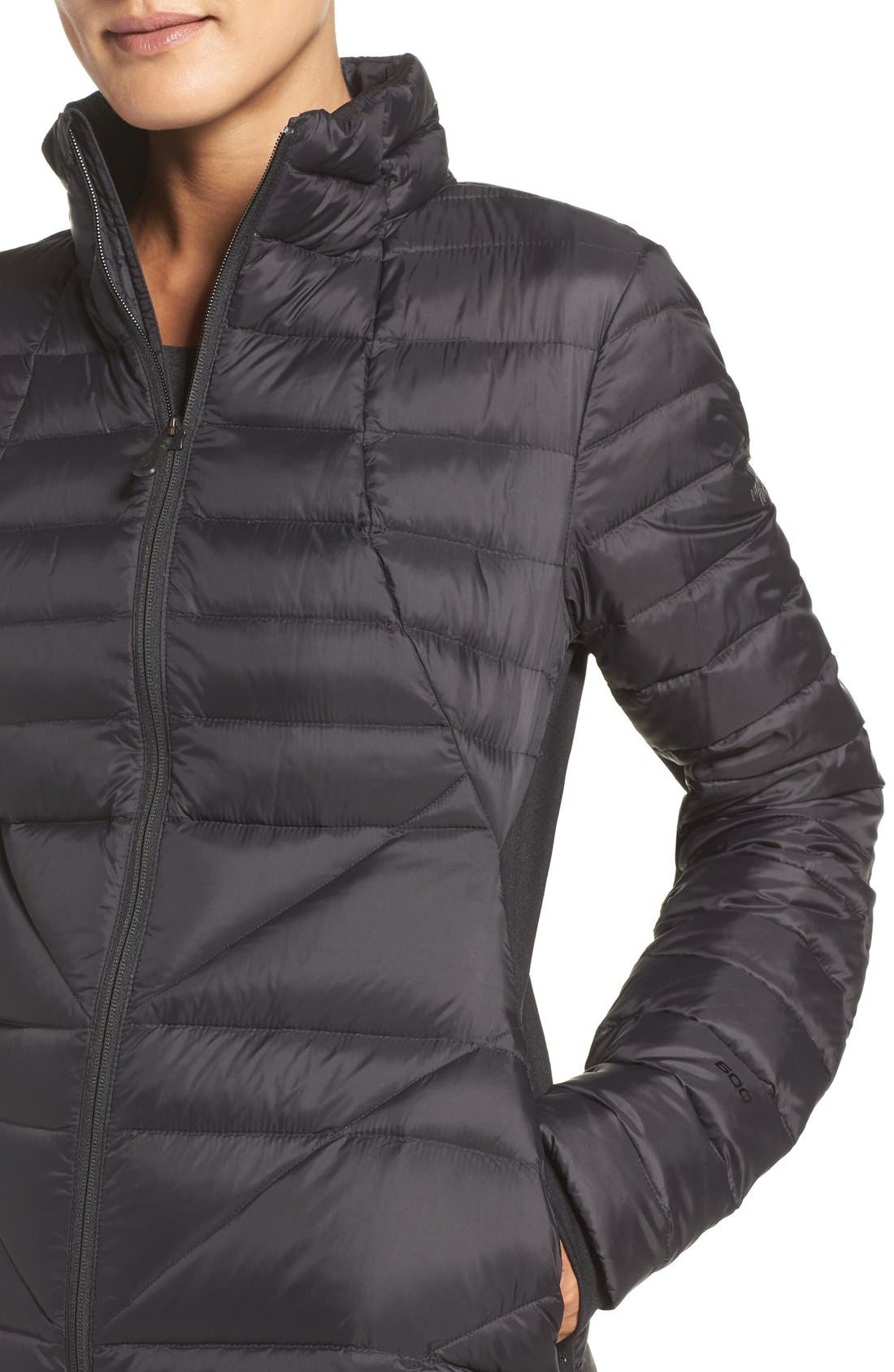 THE NORTH FACE,                             Lucia Hybrid Down Jacket,                             Alternate thumbnail 4, color,                             001