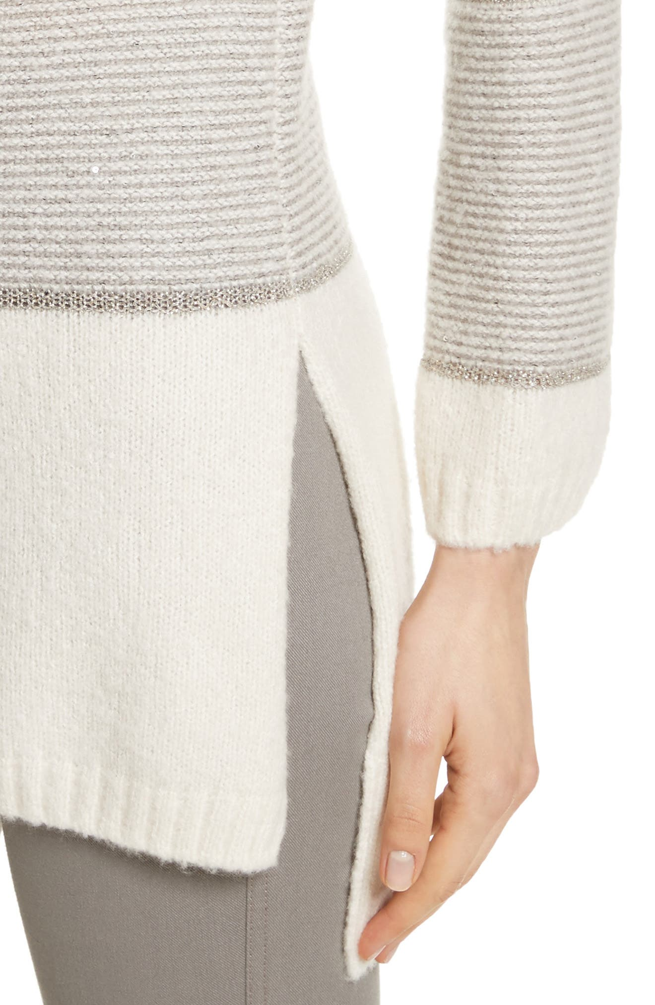 Links Knit Funnel Neck Sweater,                             Alternate thumbnail 4, color,                             270