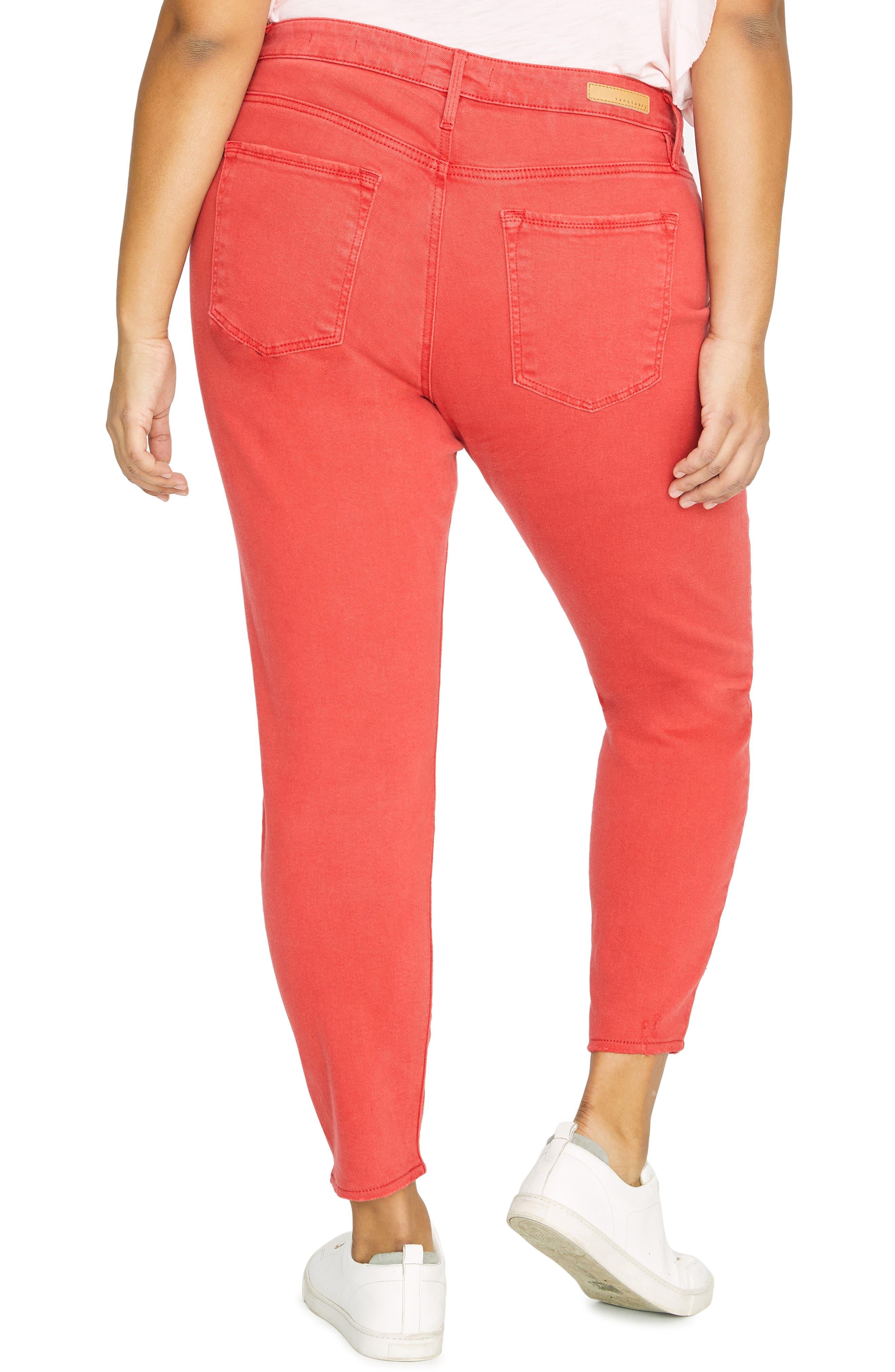 Ankle Skinny Jeans,                             Alternate thumbnail 2, color,                             CALIF POPPY