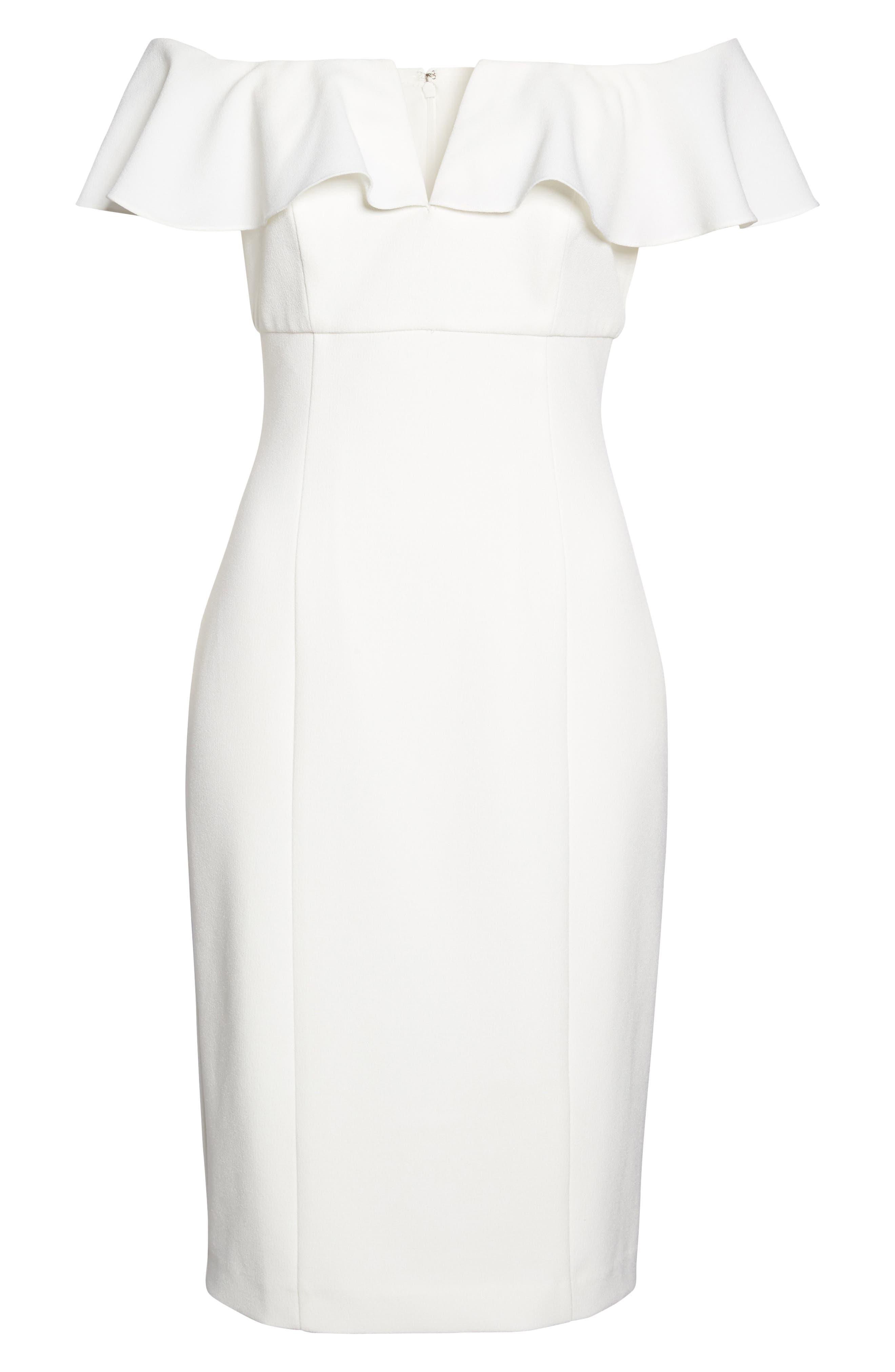 VINCE CAMUTO,                             Off the Shoulder Midi Dress,                             Alternate thumbnail 6, color,                             900