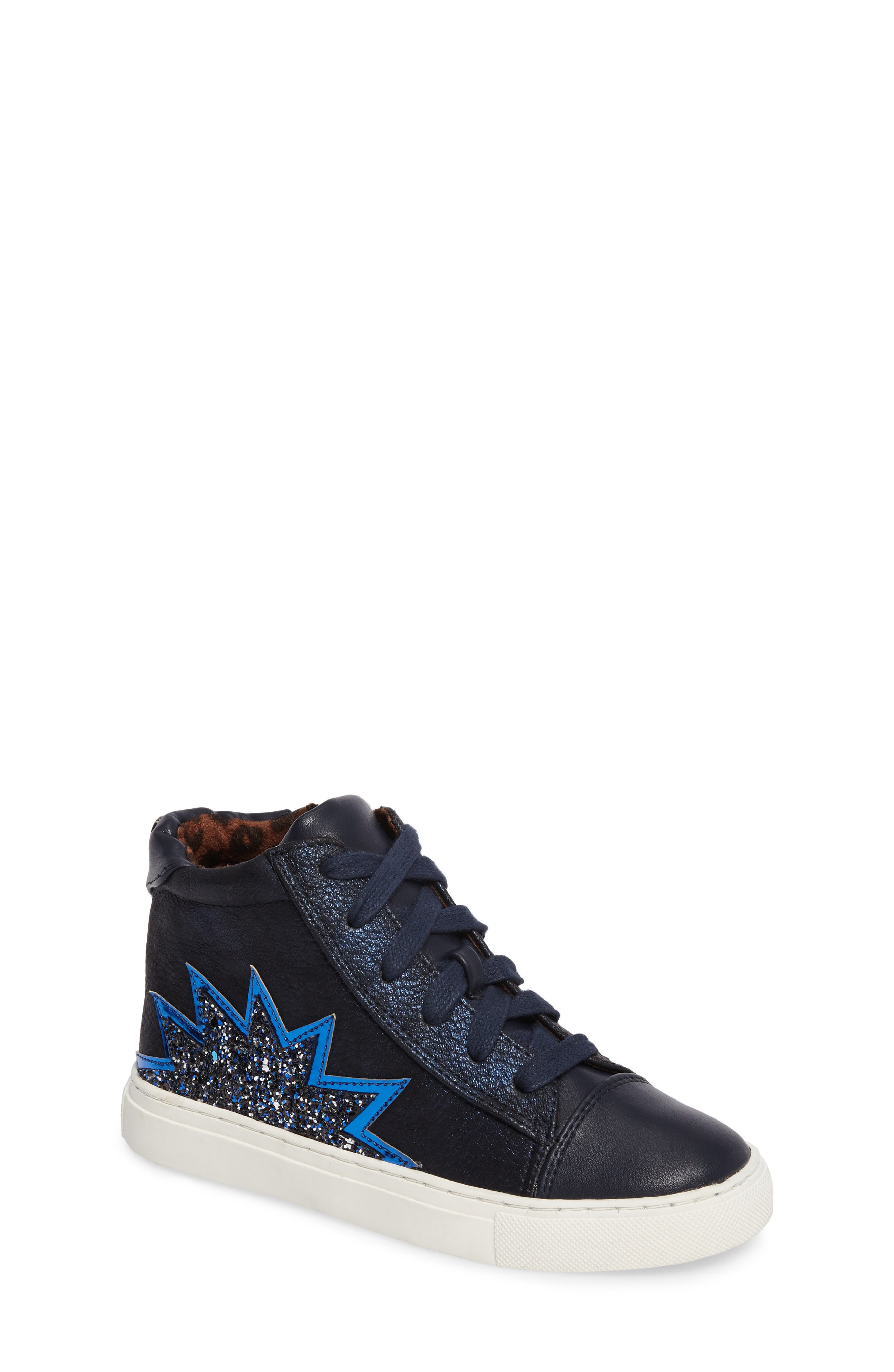 Jflash Glitter Star High Top Sneaker,                             Main thumbnail 1, color,