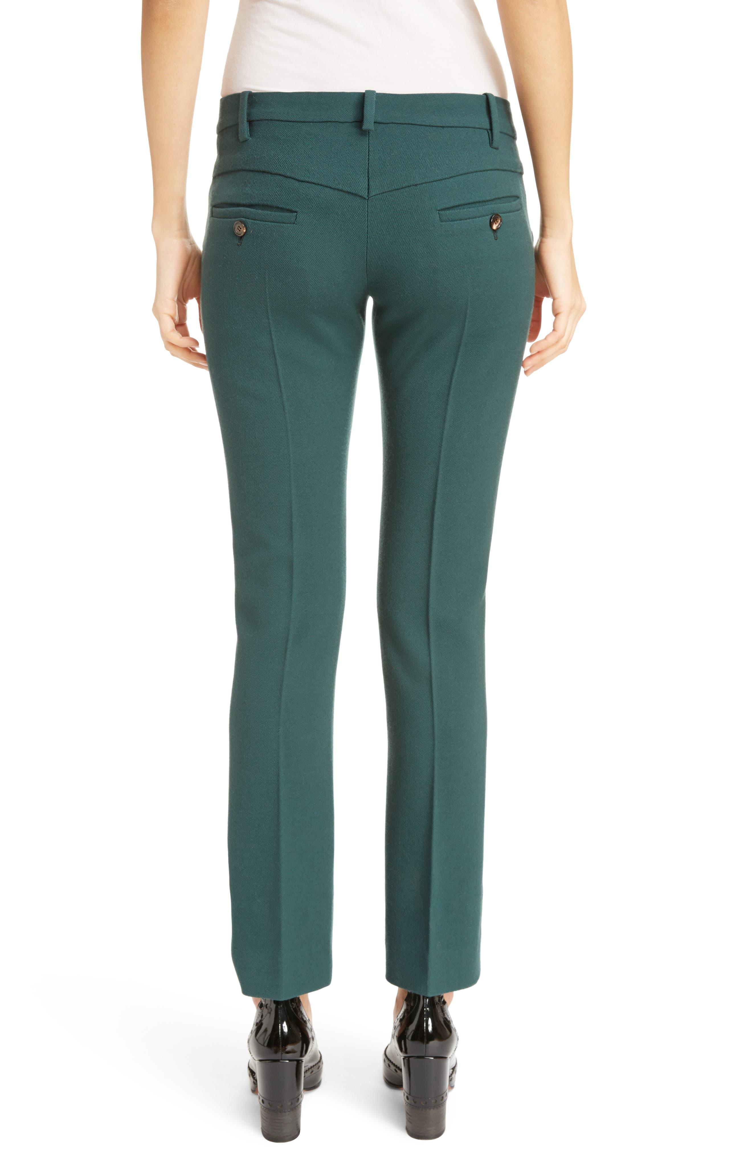 Stretch Wool Straight Leg Pants,                             Alternate thumbnail 2, color,