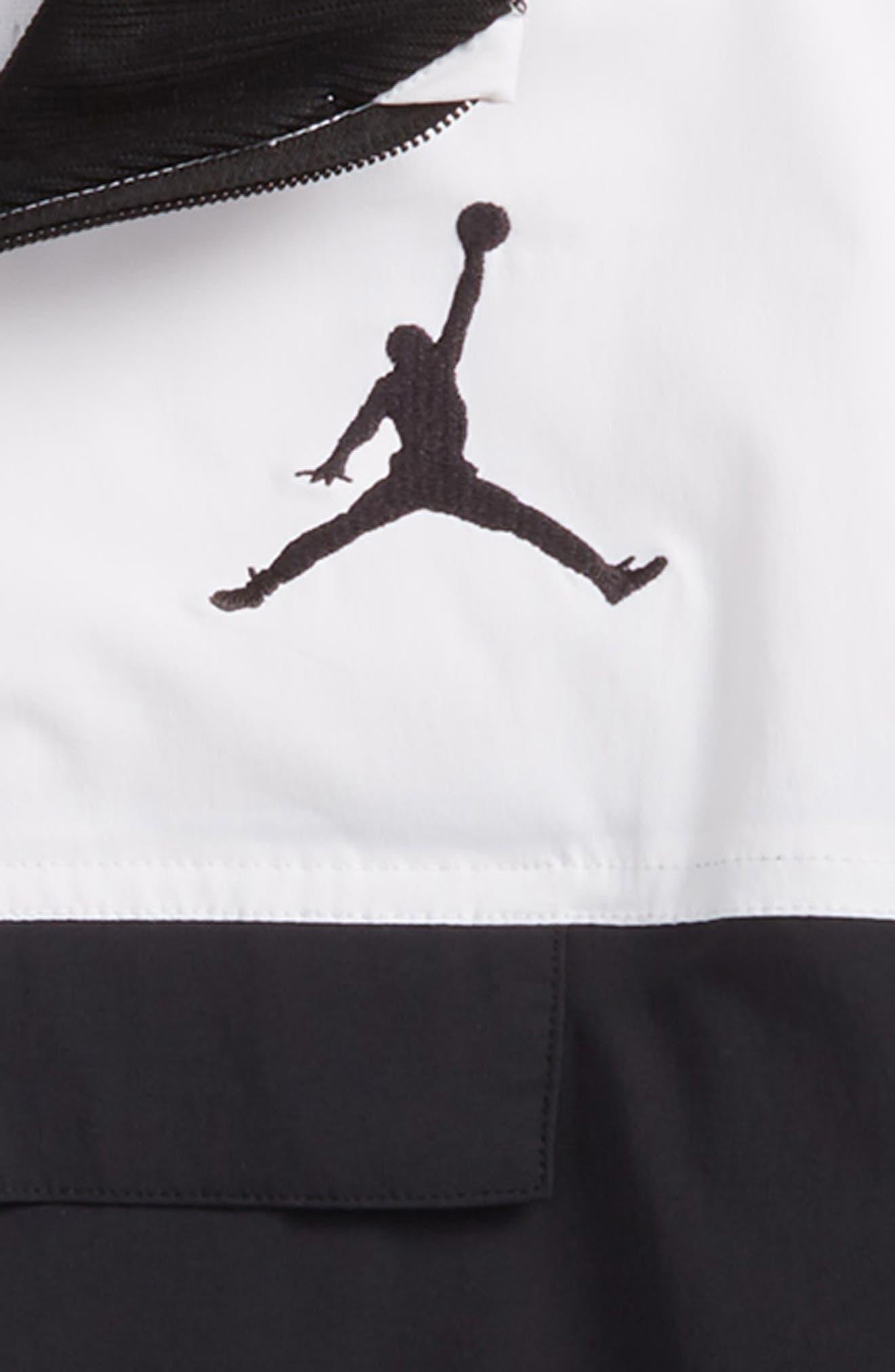 Jordan AJ '90s Popover Quarter Zip Pullover,                             Alternate thumbnail 3, color,                             001