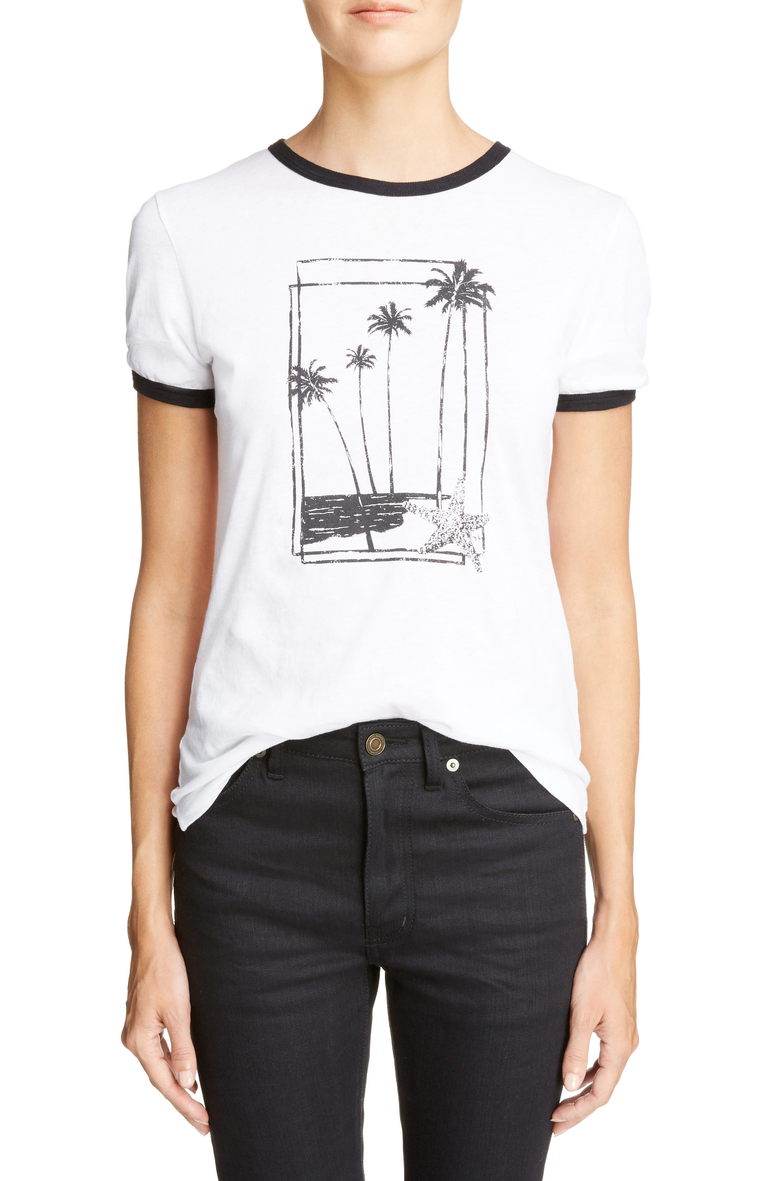 Palm Tree Graphic Tee,                             Main thumbnail 1, color,                             134