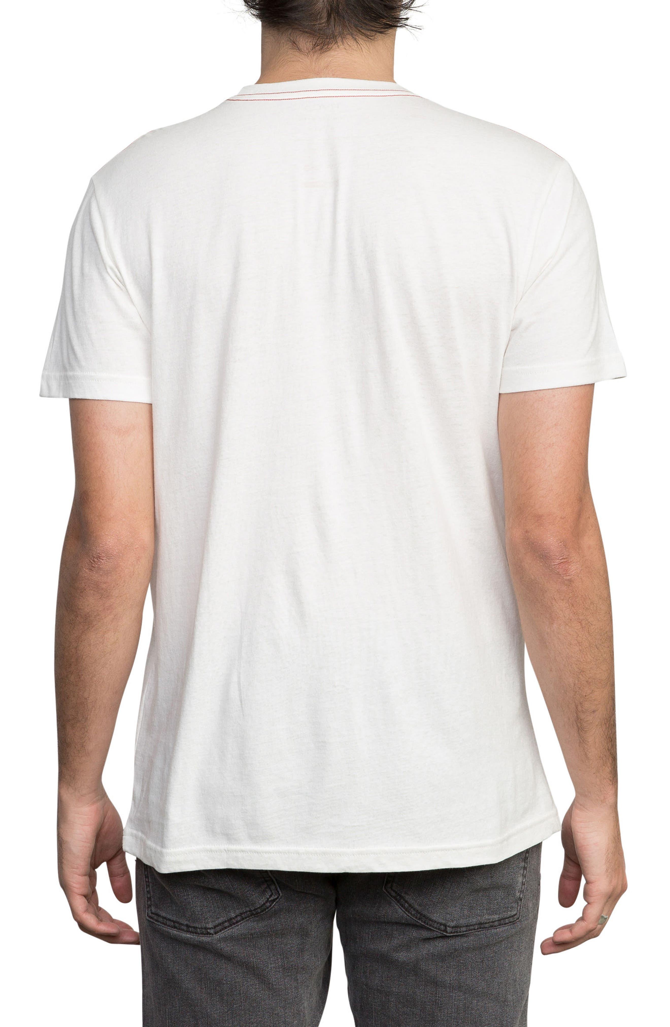 Oblow Roses T-Shirt,                             Alternate thumbnail 2, color,                             ANTIQUE WHITE