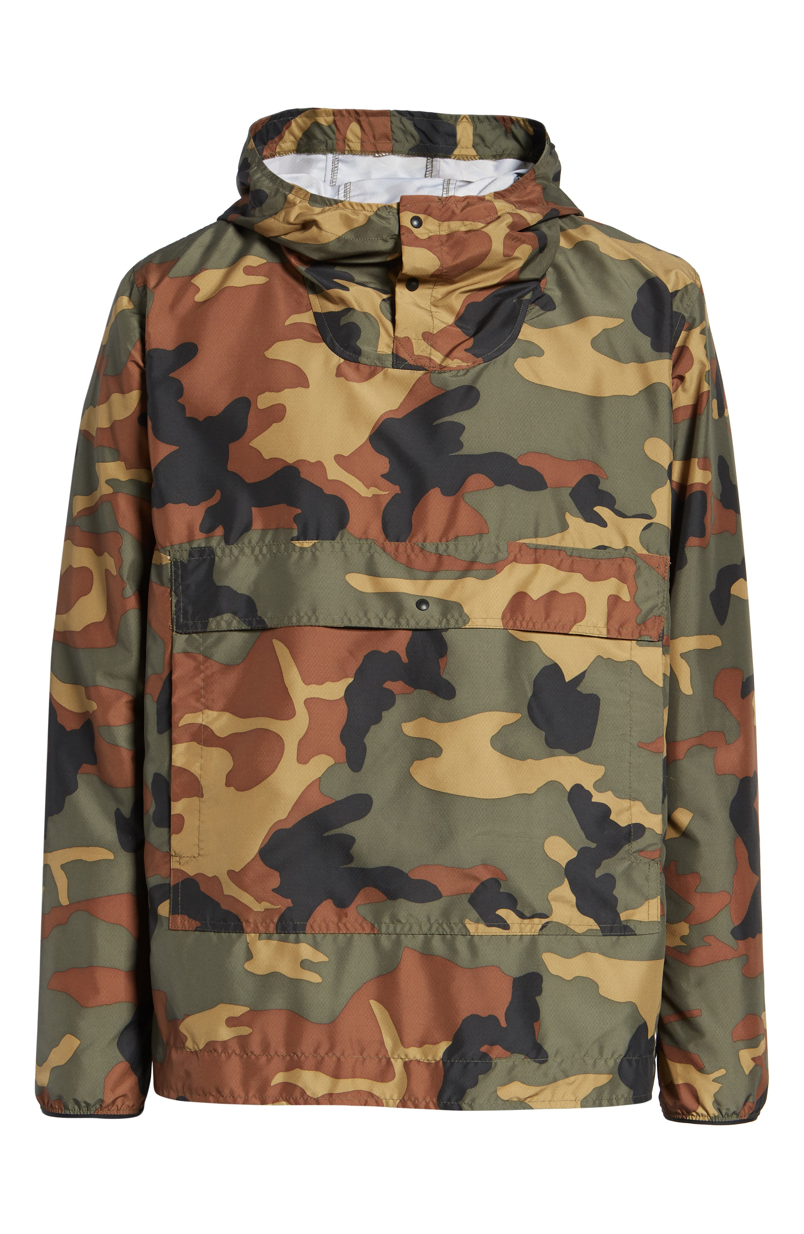Voyage Anorak,                             Alternate thumbnail 4, color,                             WOODLAND CAMO