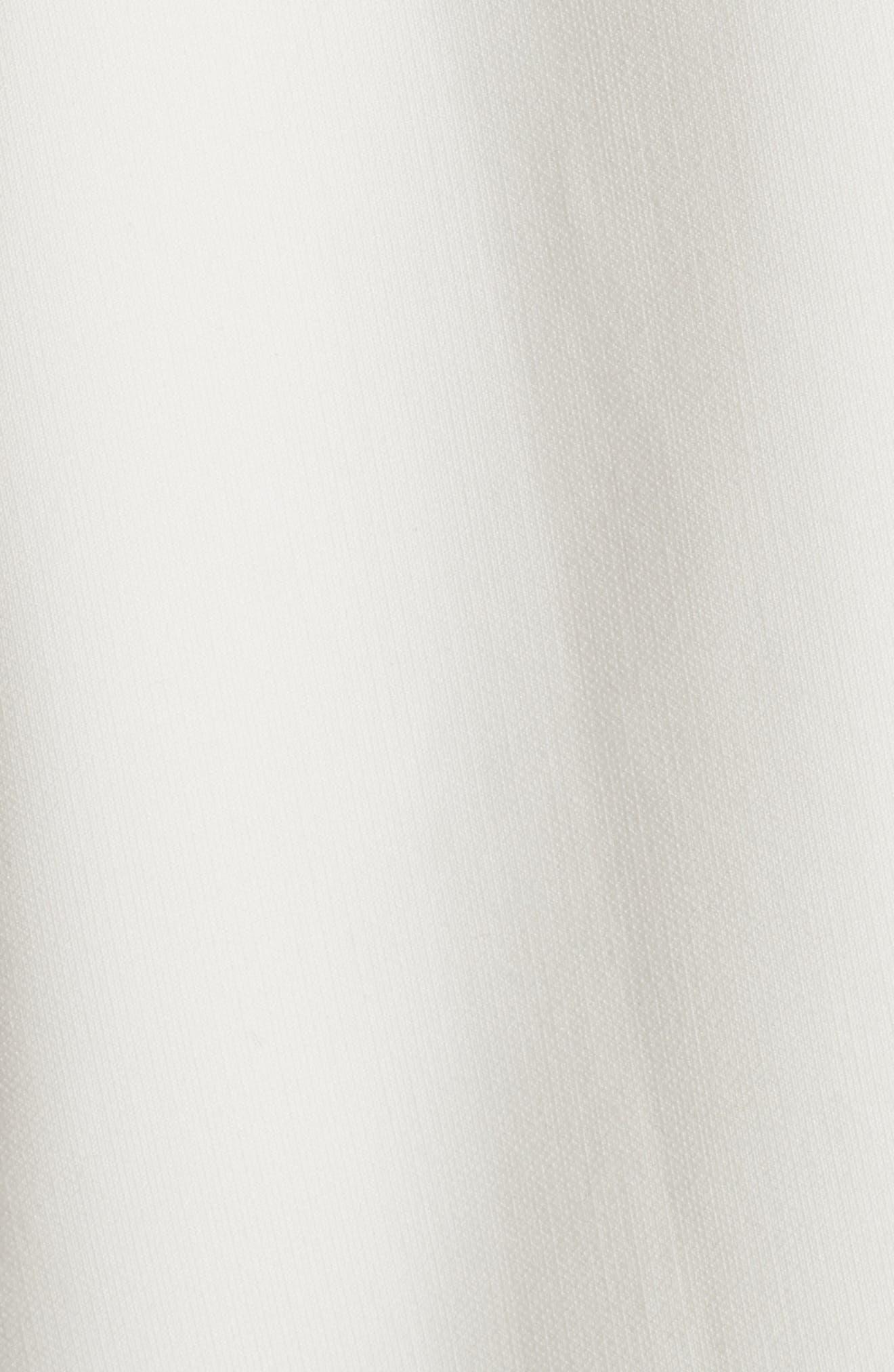Aurora Fringe Trim Fit & Flare Dress,                             Alternate thumbnail 5, color,                             900