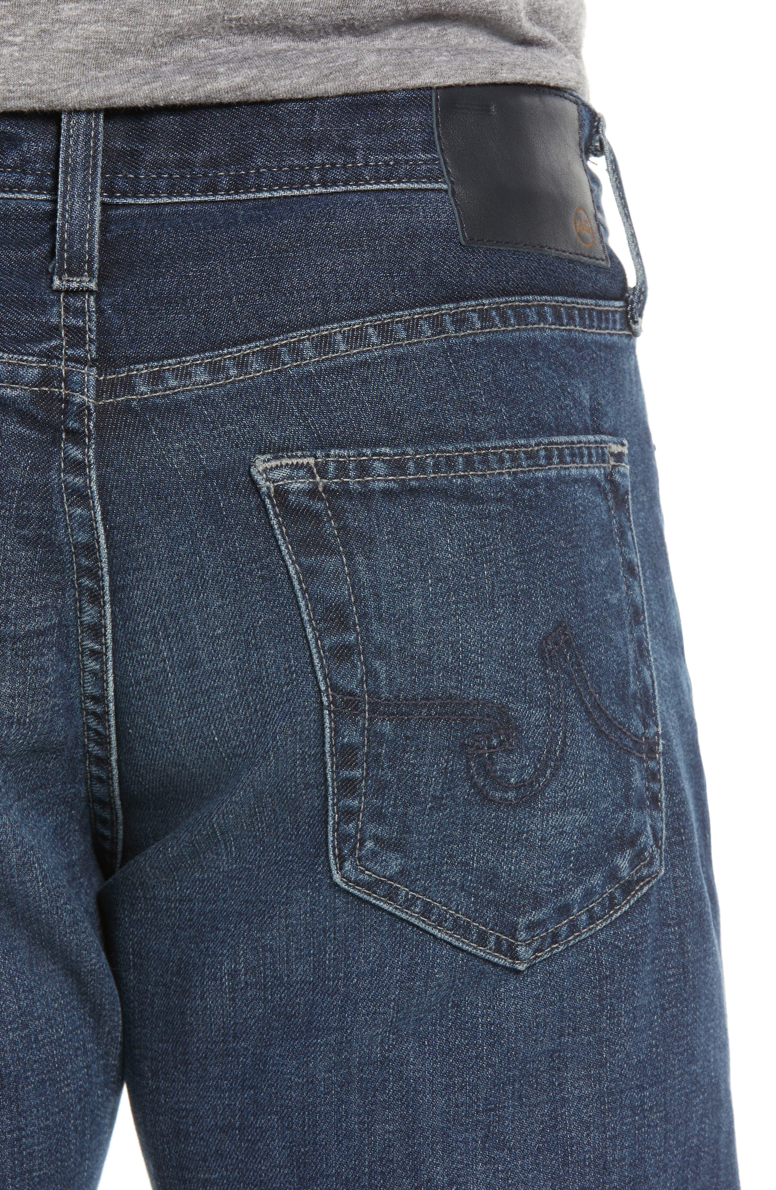 Everett Slim Straight Leg Jeans,                             Alternate thumbnail 4, color,                             7 YEARS PARK AVEUNE