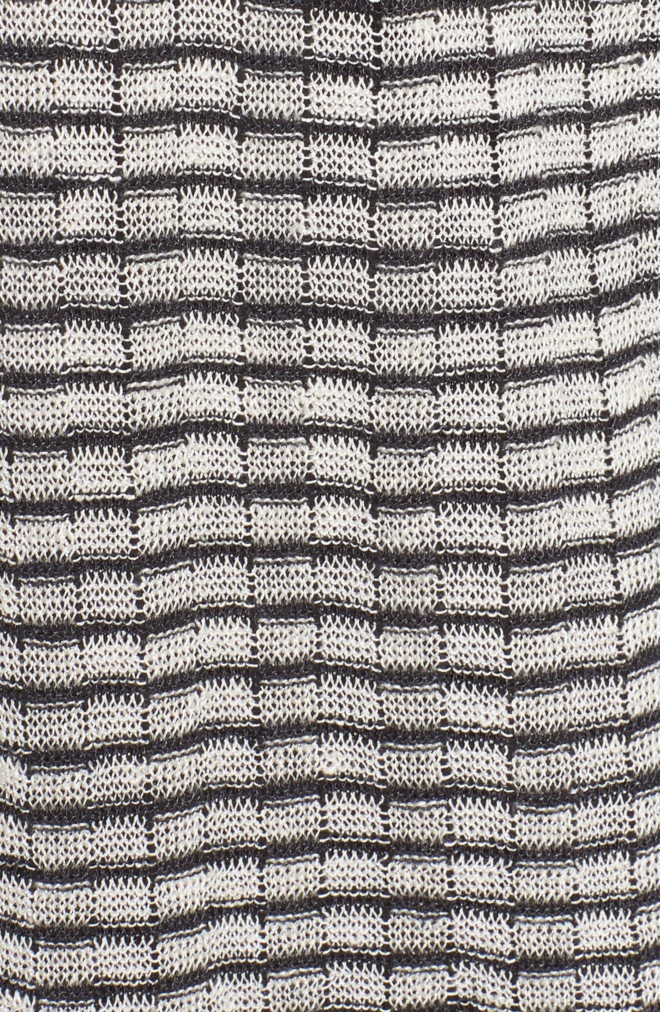 Stripe Organic Linen Blend Cardigan,                             Alternate thumbnail 6, color,