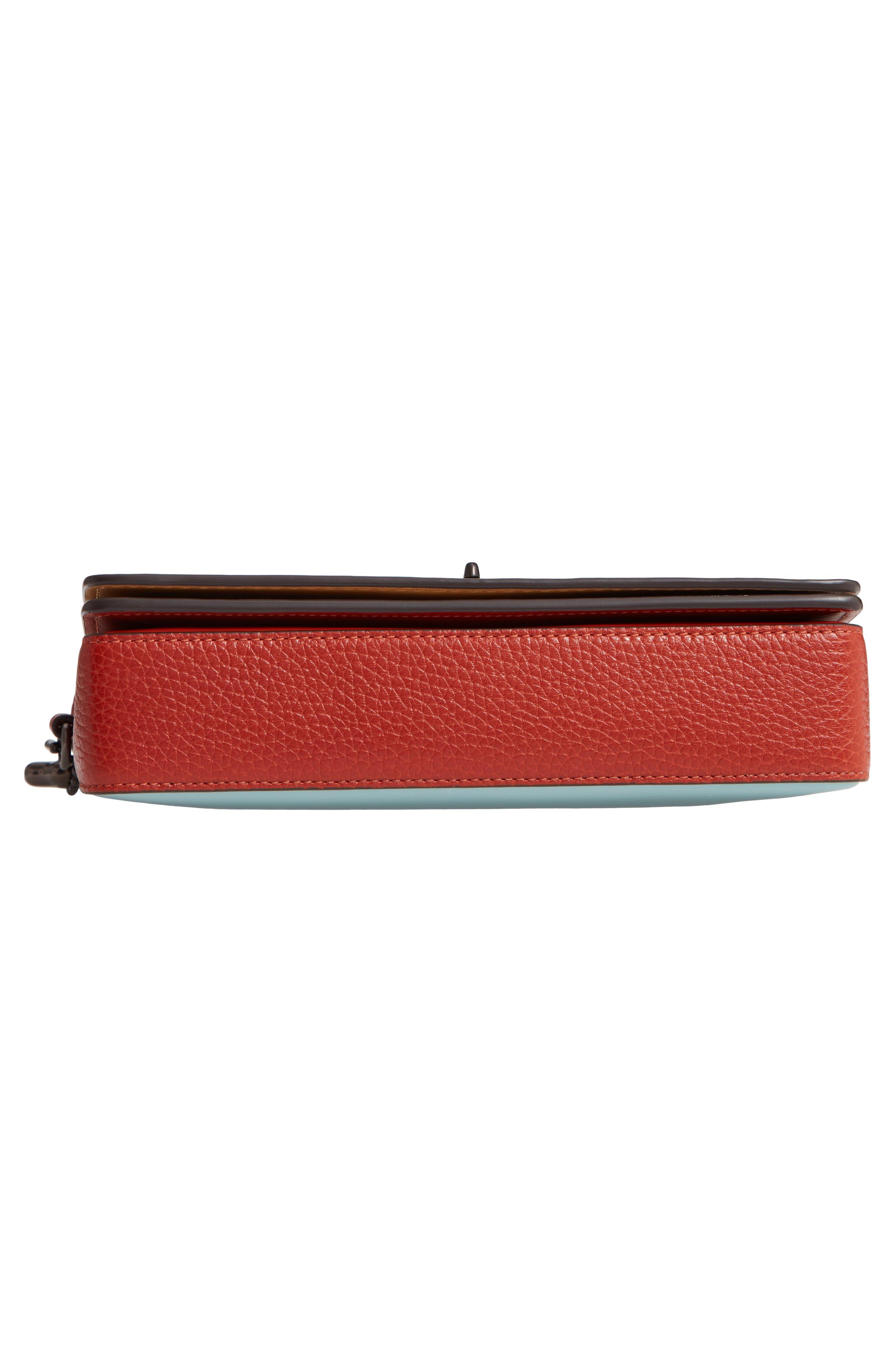 Dinky Colorblock Leather Crossbody Bag,                             Alternate thumbnail 6, color,                             CHALK MULTI
