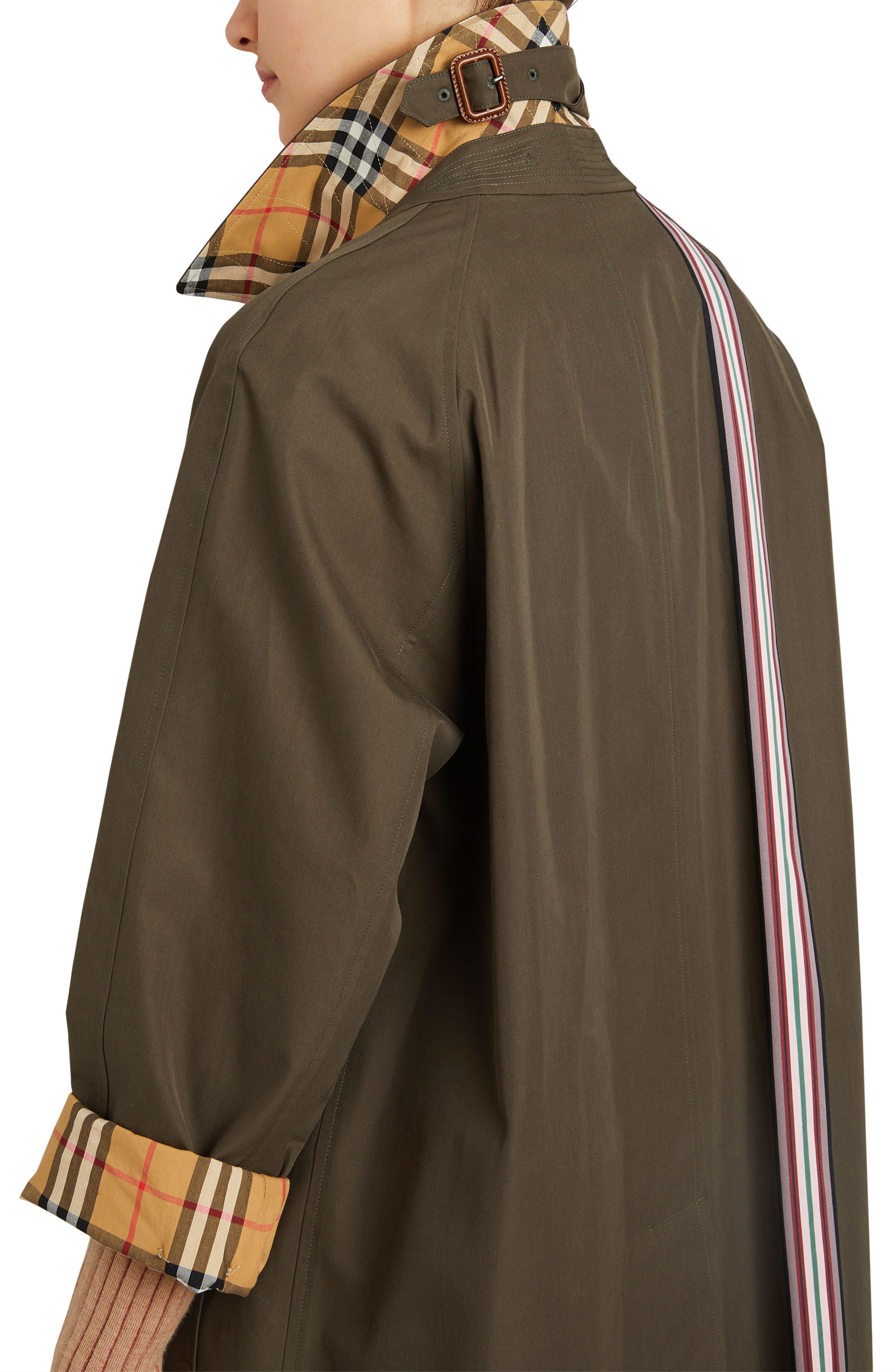 Eastborne Collegiate Stripe Car Coat,                             Alternate thumbnail 3, color,                             301