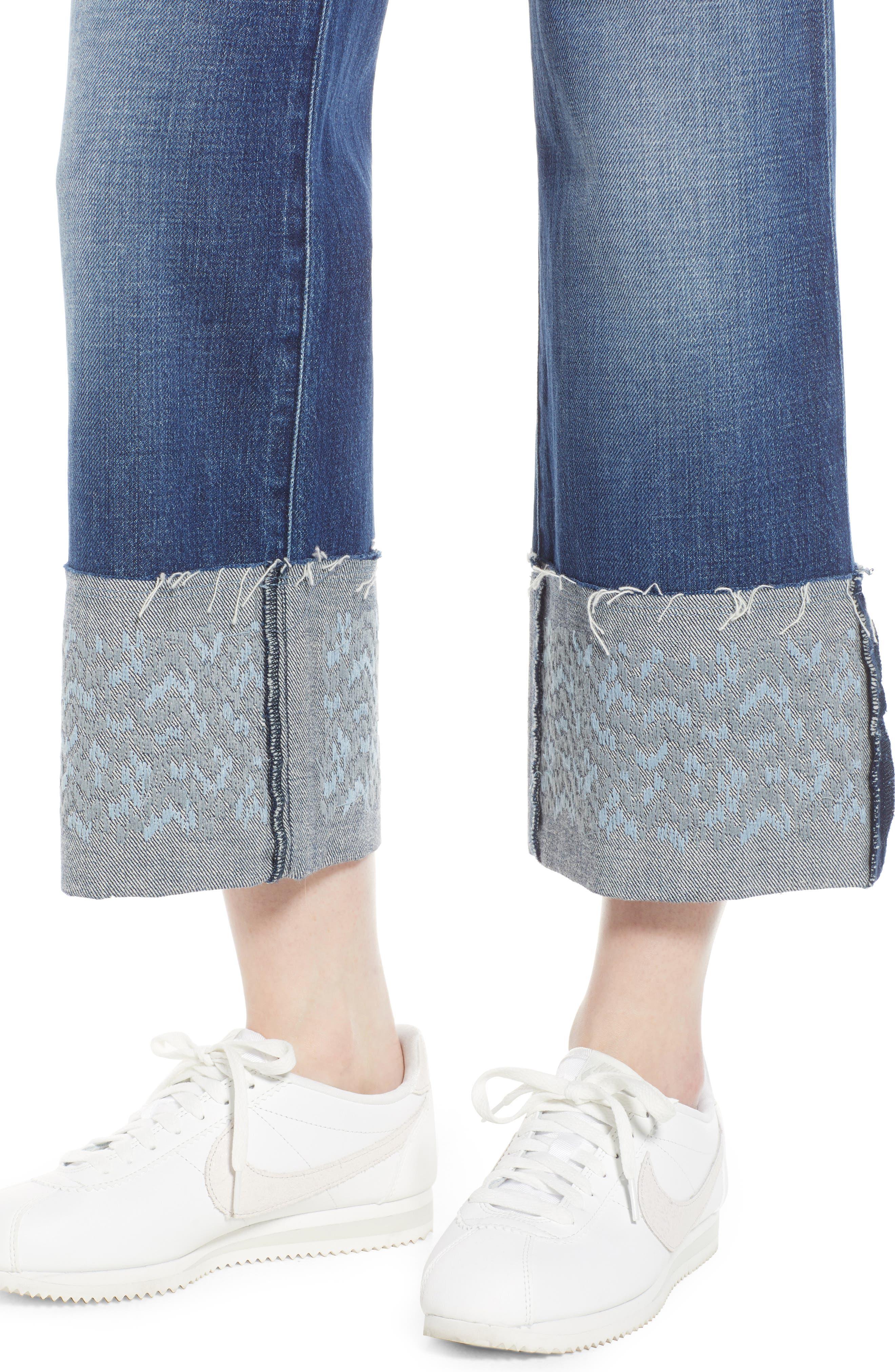 Joan High Waist Crop Wide Leg Jeans,                             Alternate thumbnail 4, color,                             409