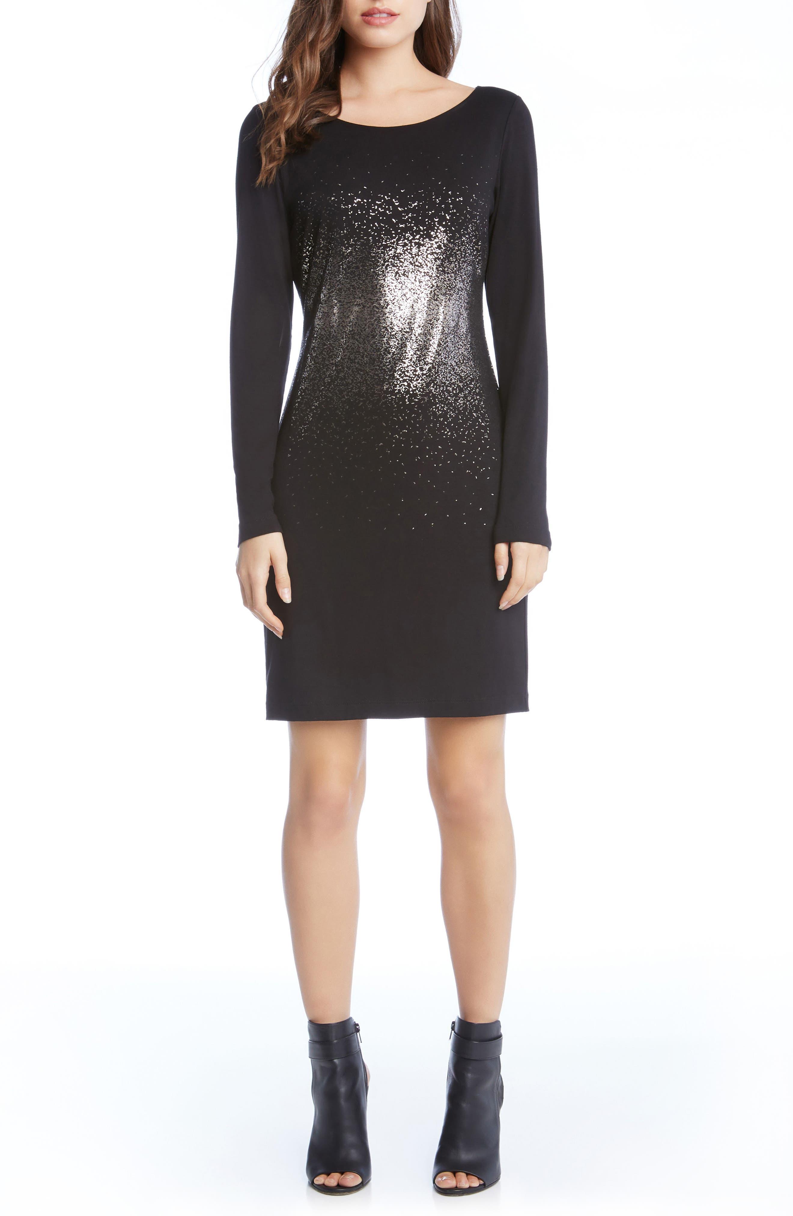 Metallic Ombré Sheath Dress,                             Main thumbnail 1, color,                             004