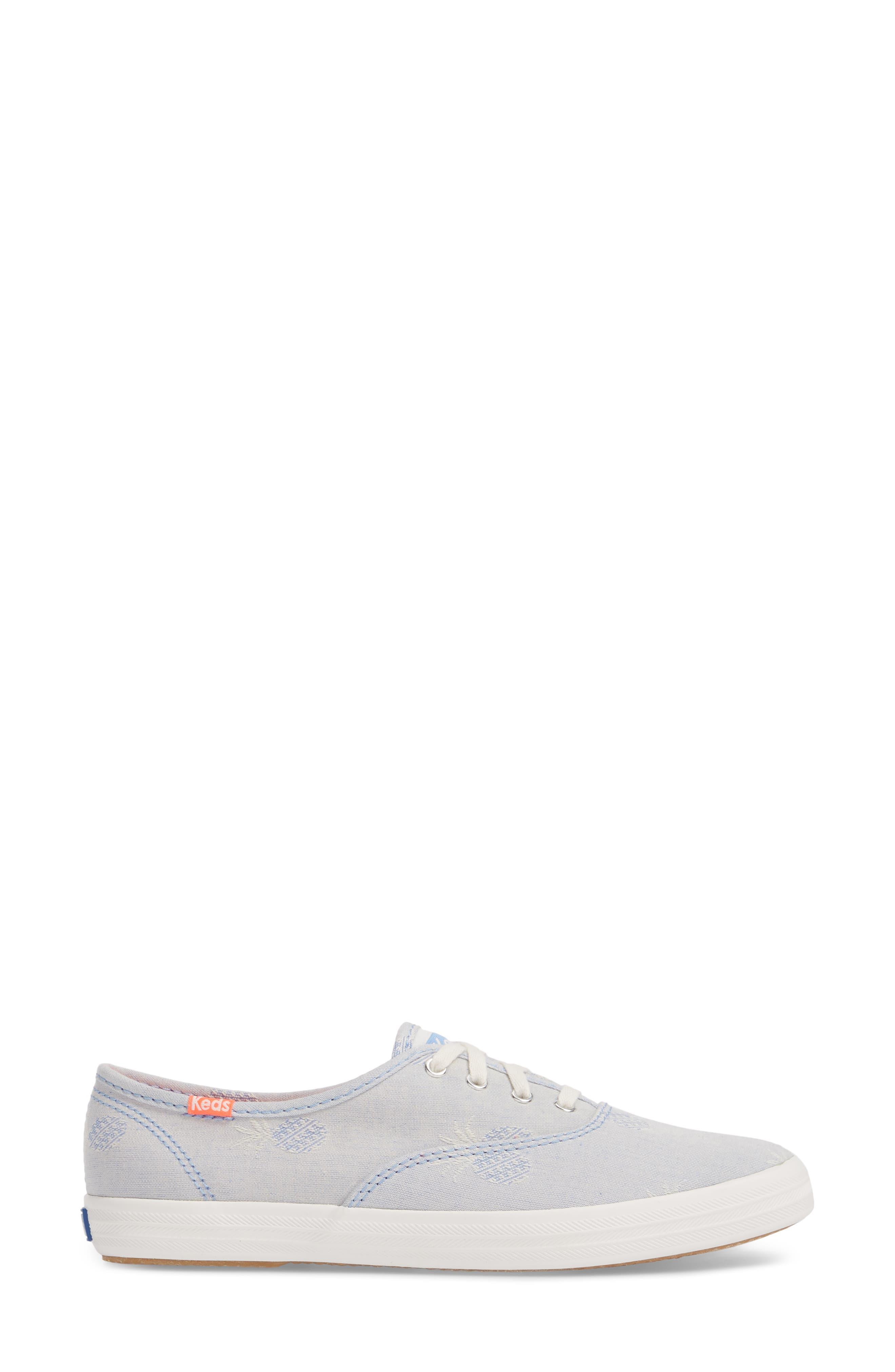 Champion Pineapple Chambray Sneaker,                             Alternate thumbnail 3, color,                             400