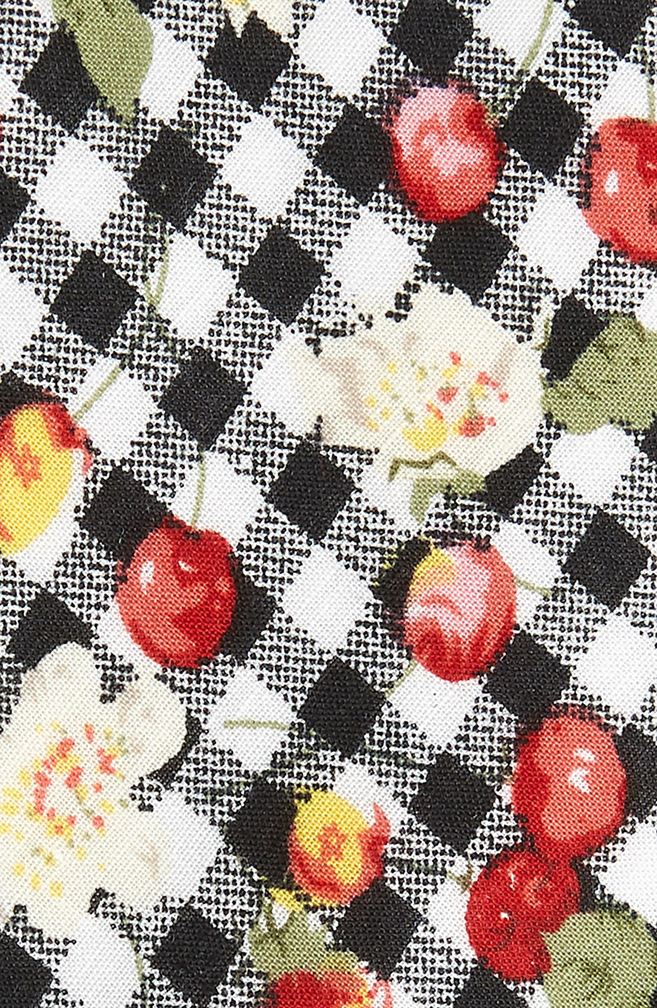 Edmond Floral & Check Cotton Skinny Tie,                             Alternate thumbnail 2, color,                             001