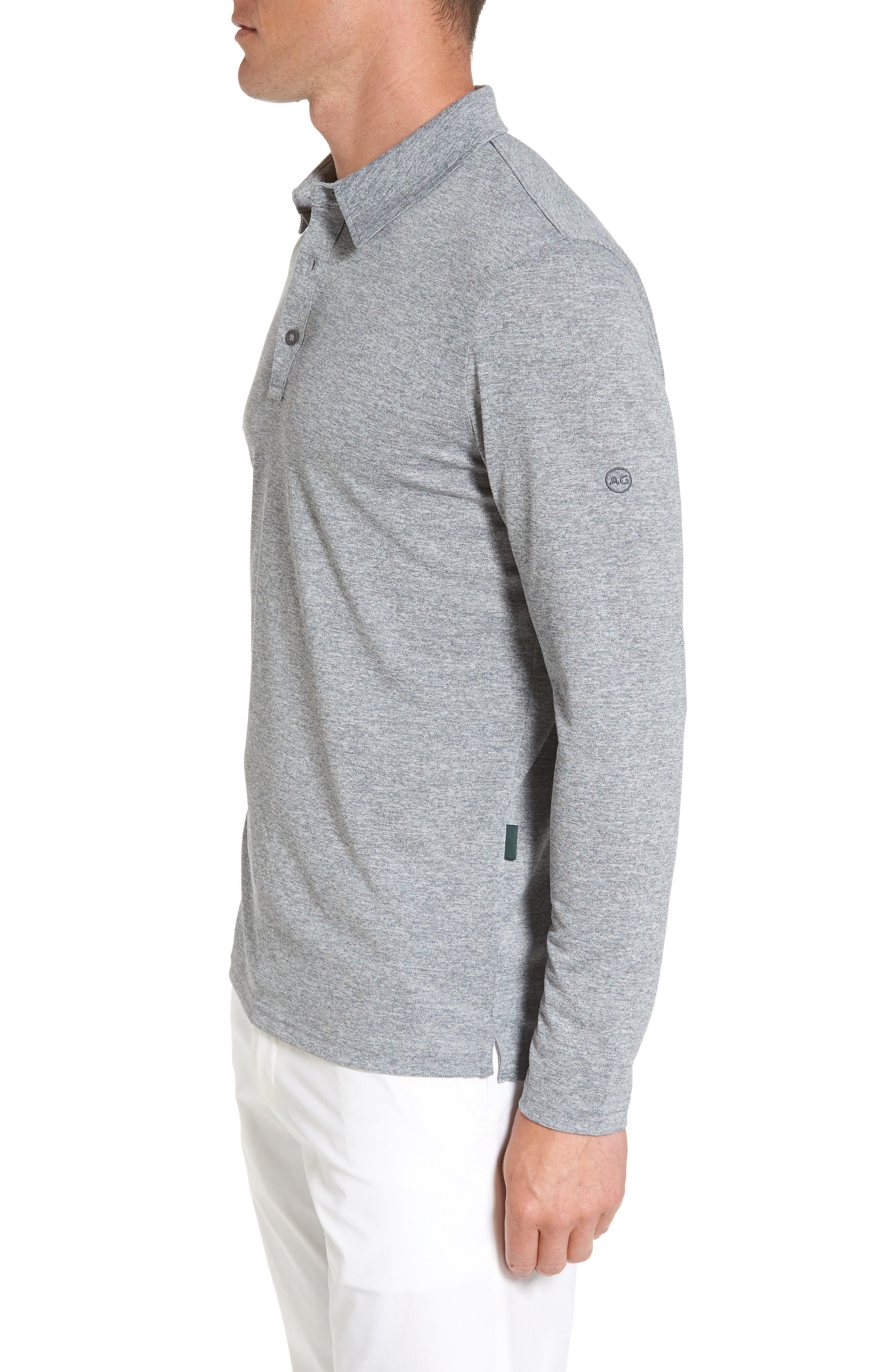 Hamden Long Sleeve Polo,                             Alternate thumbnail 3, color,                             029