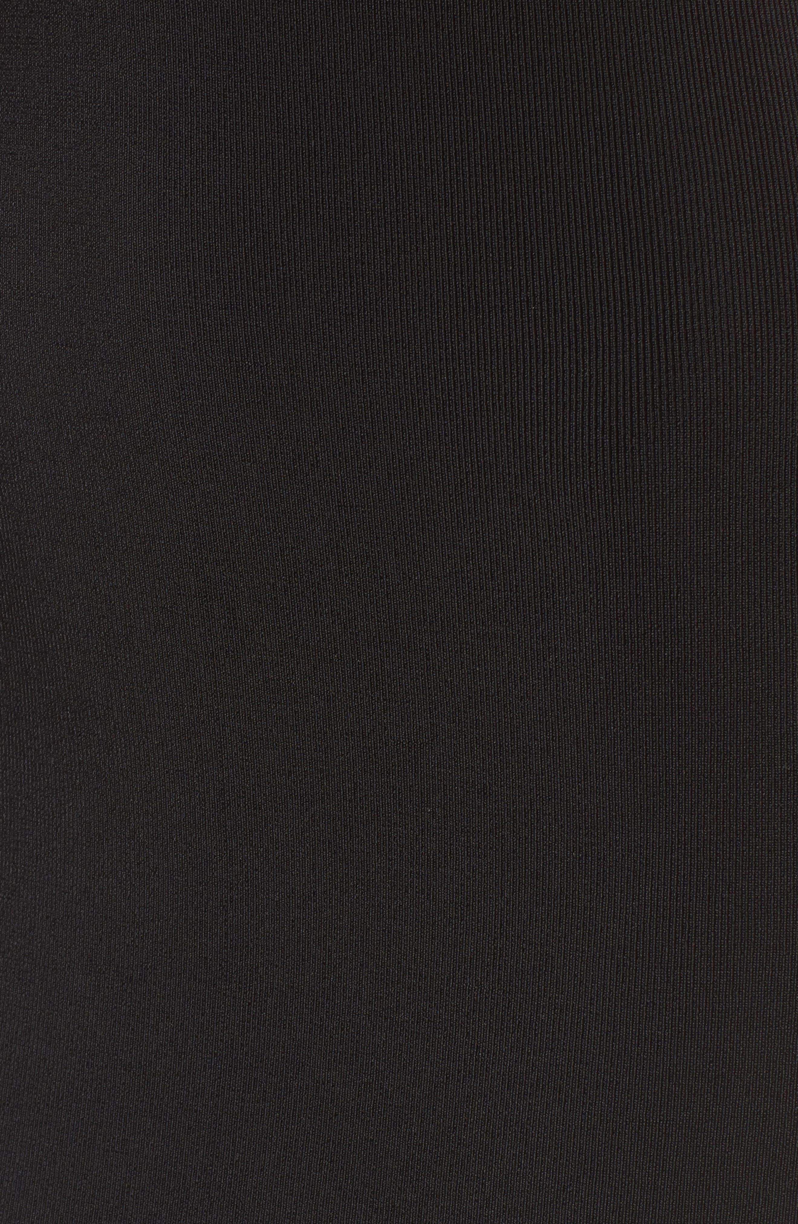 Sweater Knit Midi Dress,                             Alternate thumbnail 5, color,                             001