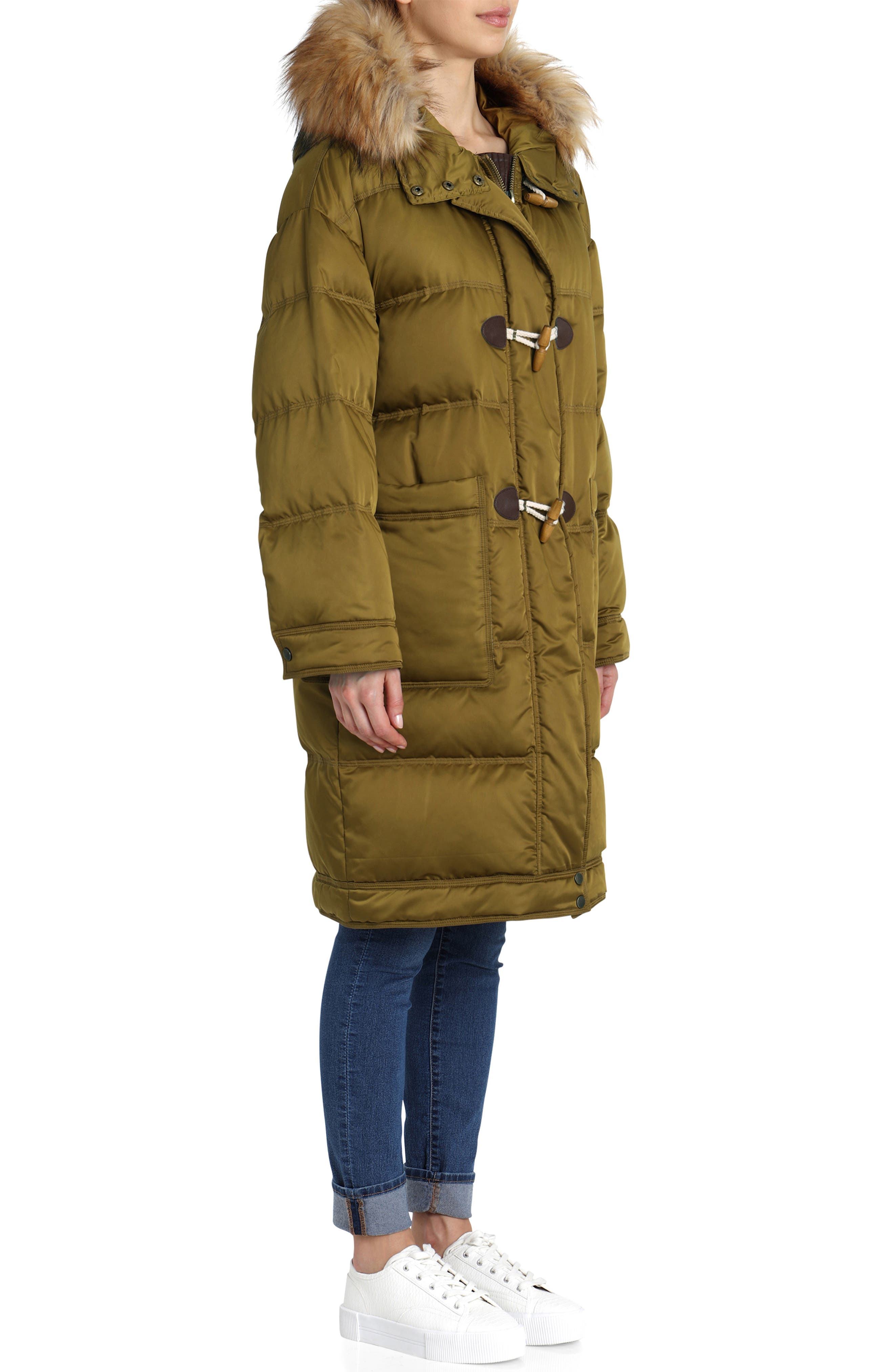 Water Resistant Insulated Parka with Faux-Fur Trim,                             Alternate thumbnail 3, color,                             301