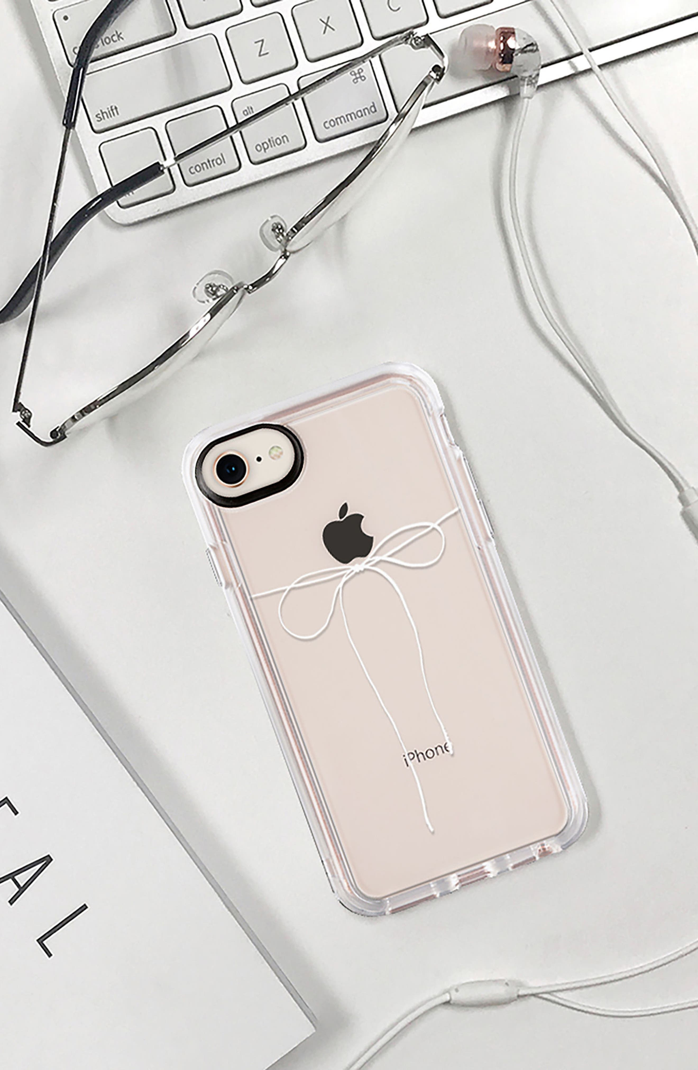 Take a Bow iPhone 7/8 & 7/8 Plus Case,                             Alternate thumbnail 8, color,                             CLEAR WHITE