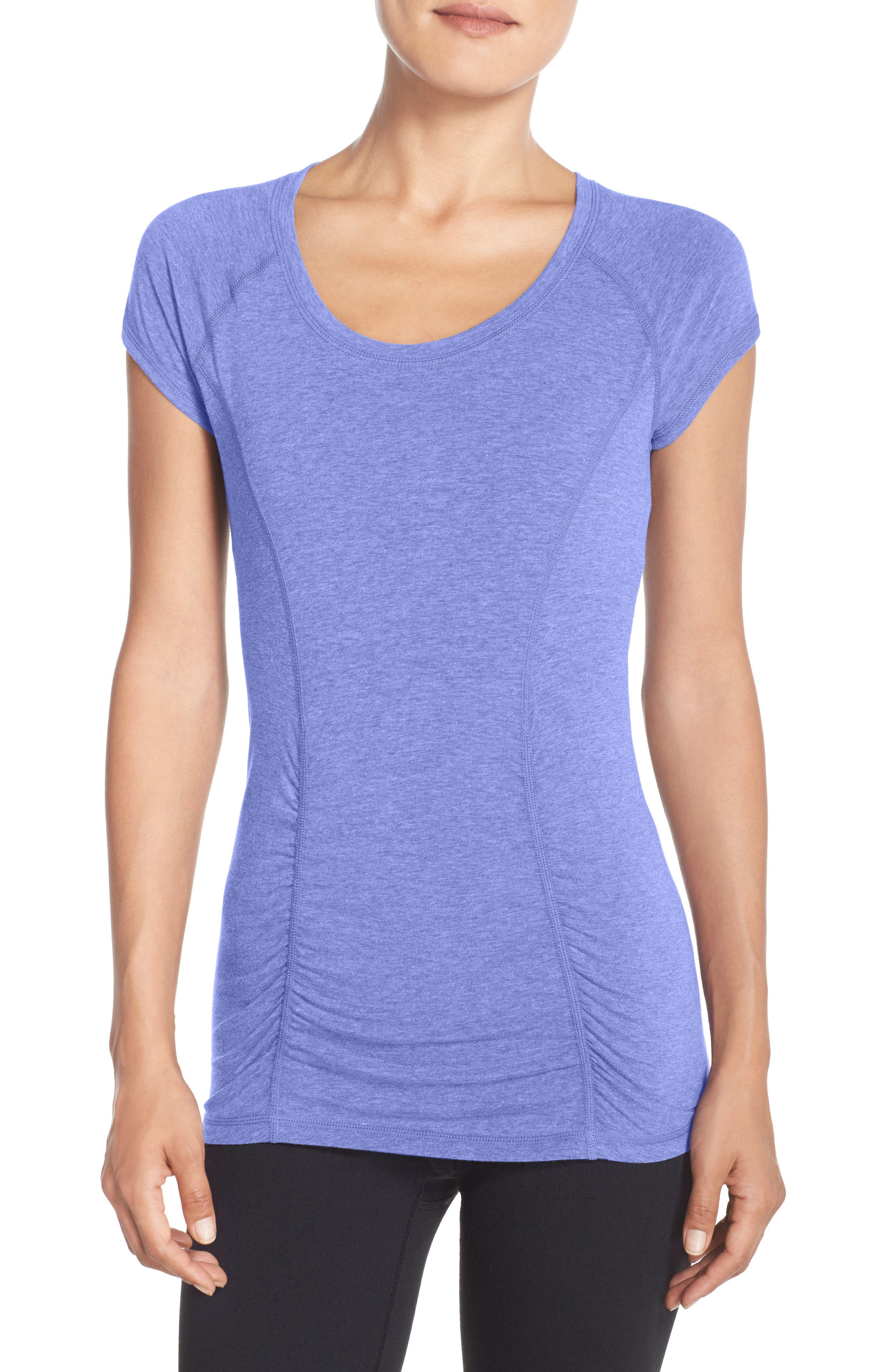 'Z 6' Ruched Tee,                             Main thumbnail 2, color,