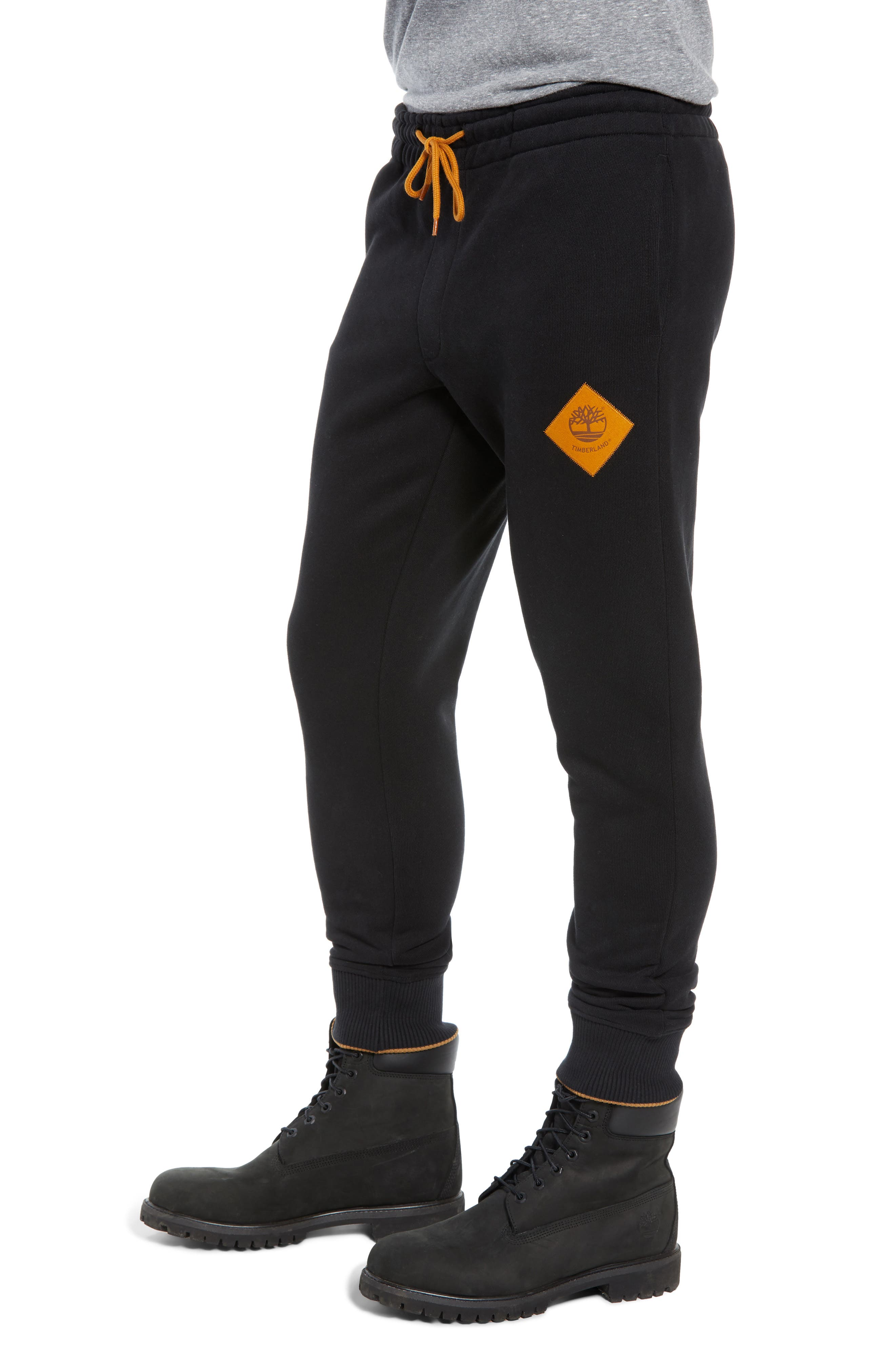 Elevated Jogger Sweatpants,                             Alternate thumbnail 3, color,                             BLACK