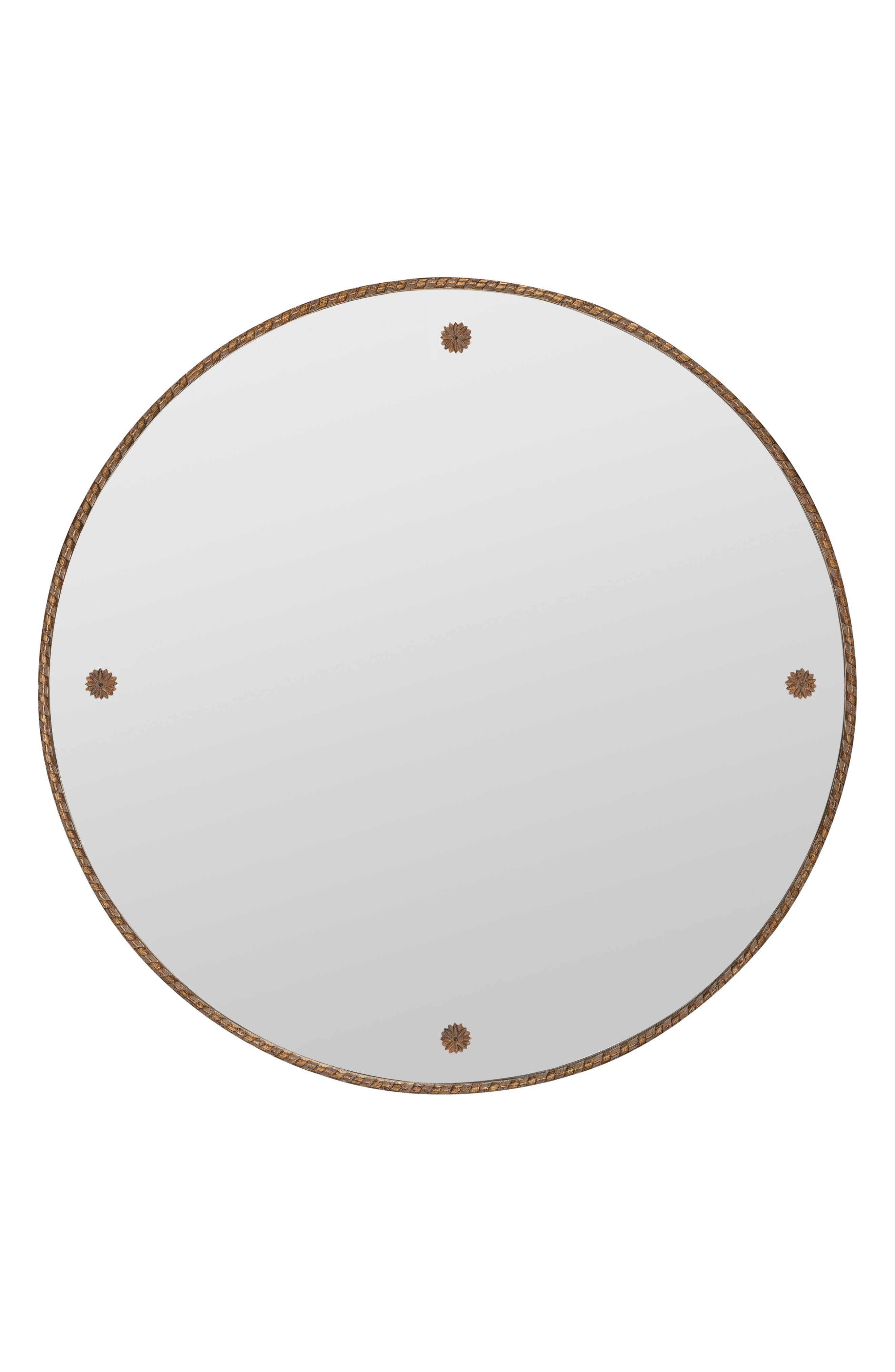 Round Wall Mirror, Main, color, METALLIC GOLD