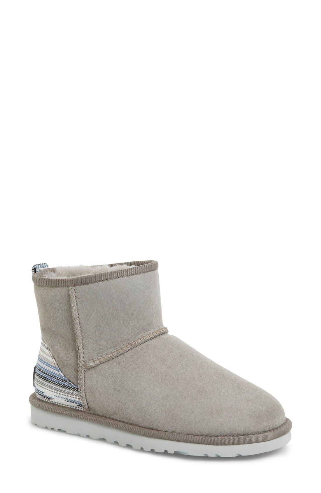 'Classic Mini Serape' Genuine Shearling Lined Boot, Main, color, 024