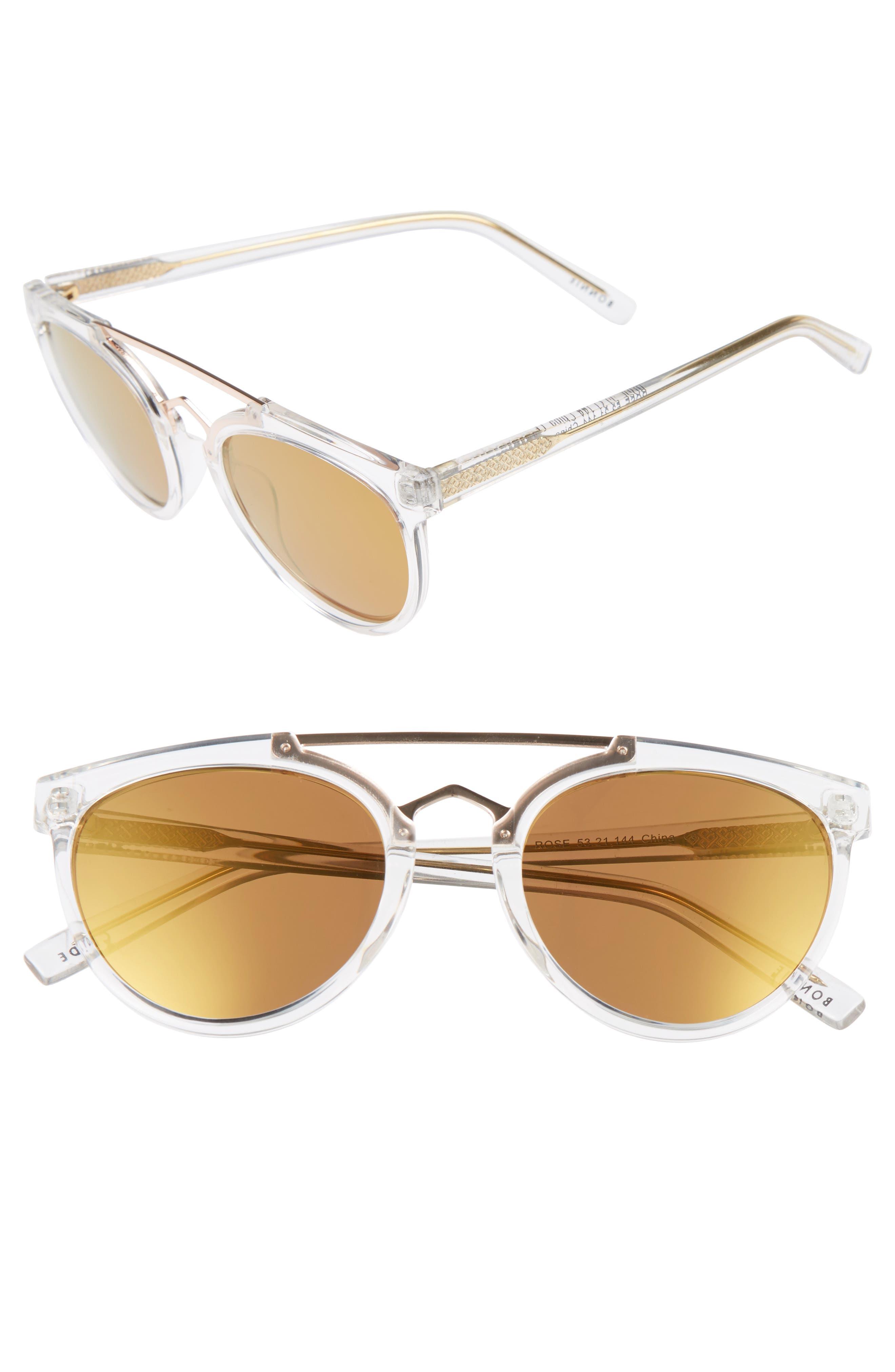 Rose 53mm Retro Sunglasses,                             Main thumbnail 4, color,