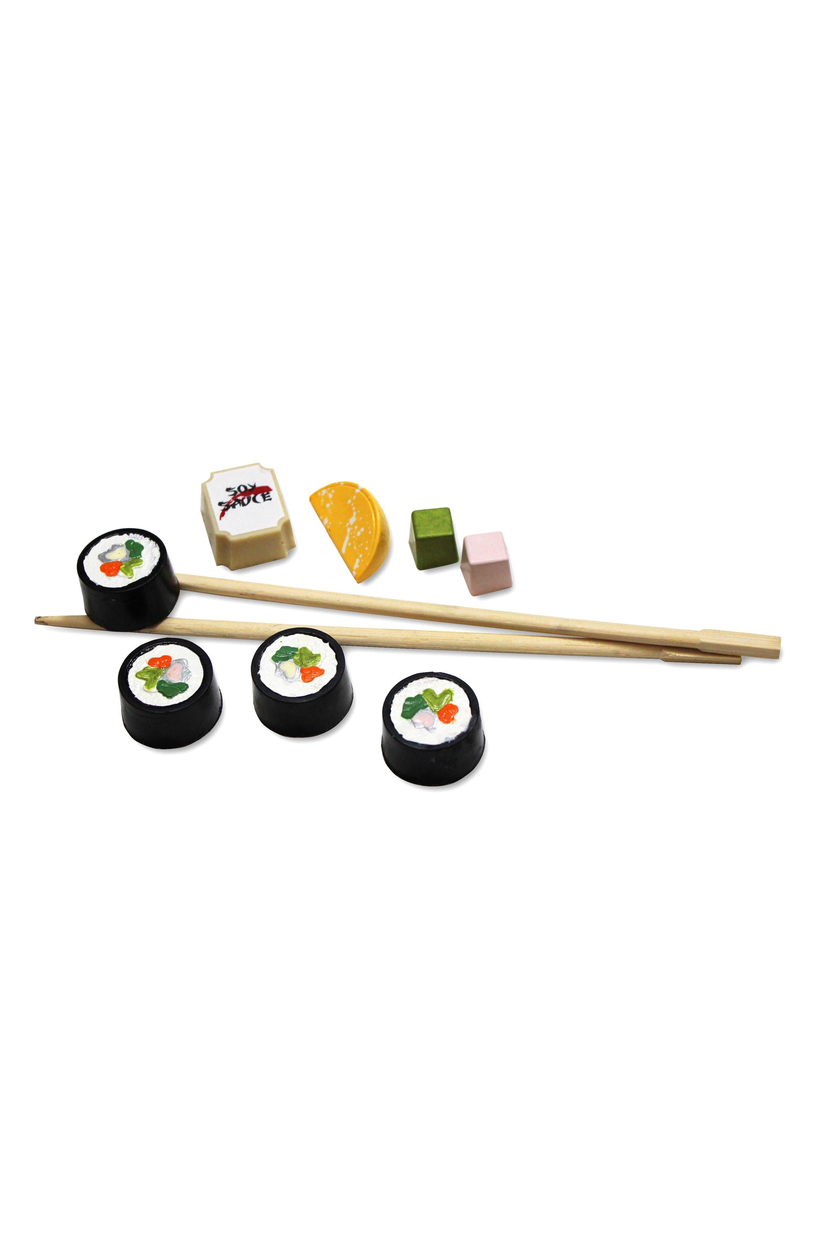 Sushi 9-Piece Chocolate Set,                             Alternate thumbnail 3, color,                             WHITE